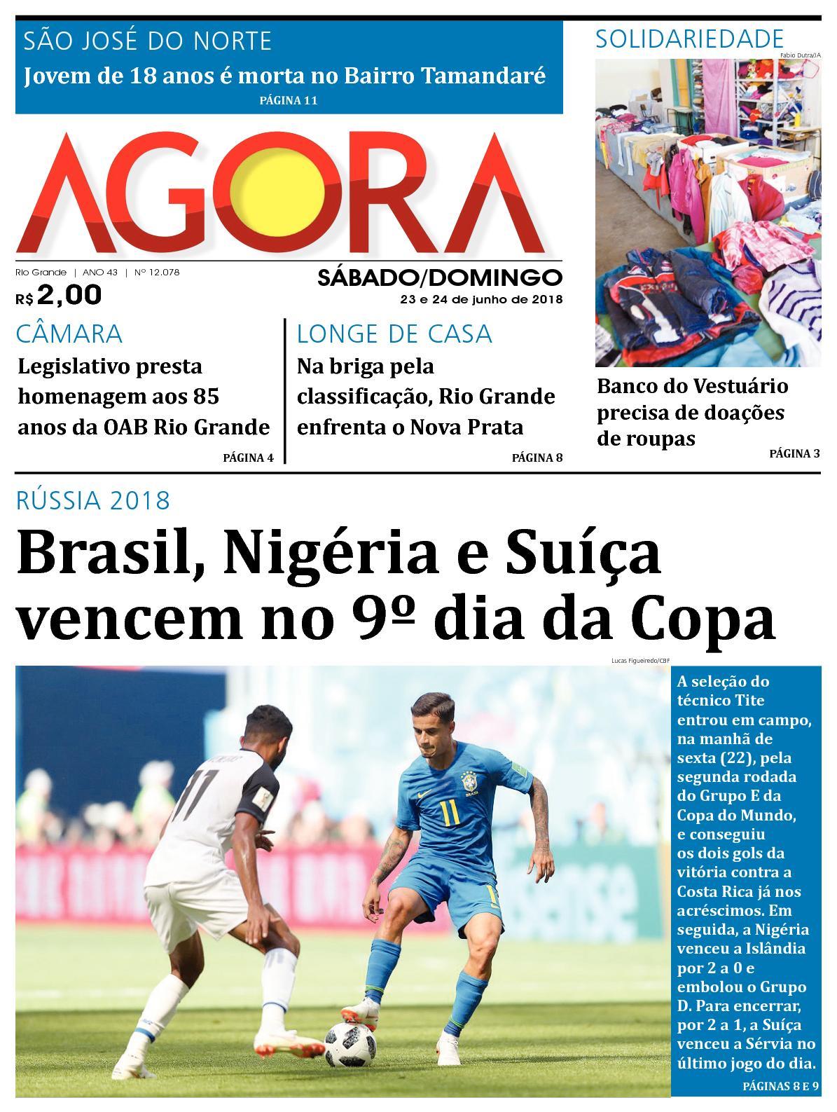 f1788f7d9c Calaméo - Jornal Agora - Edição 12078 - 23 e 24 de Junho de 2018