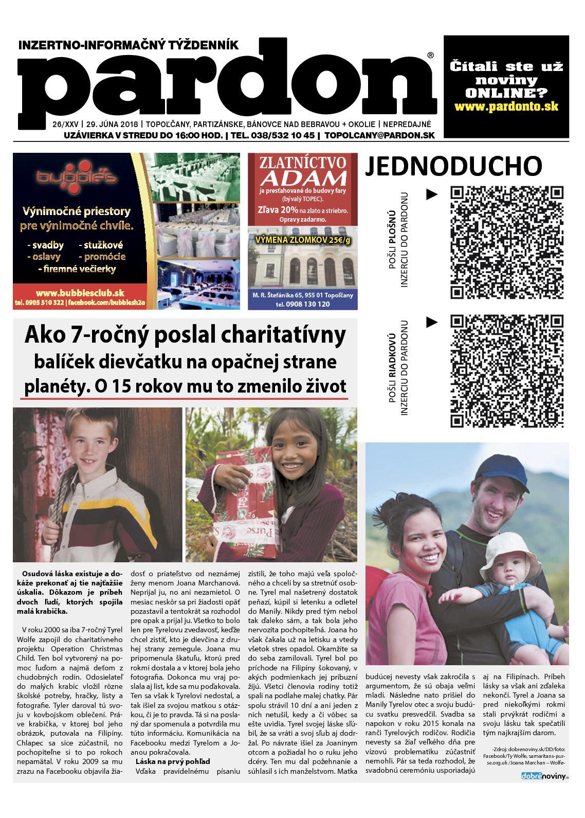 70b530b651bf Calaméo - Pardon Topoľčany 26 2018