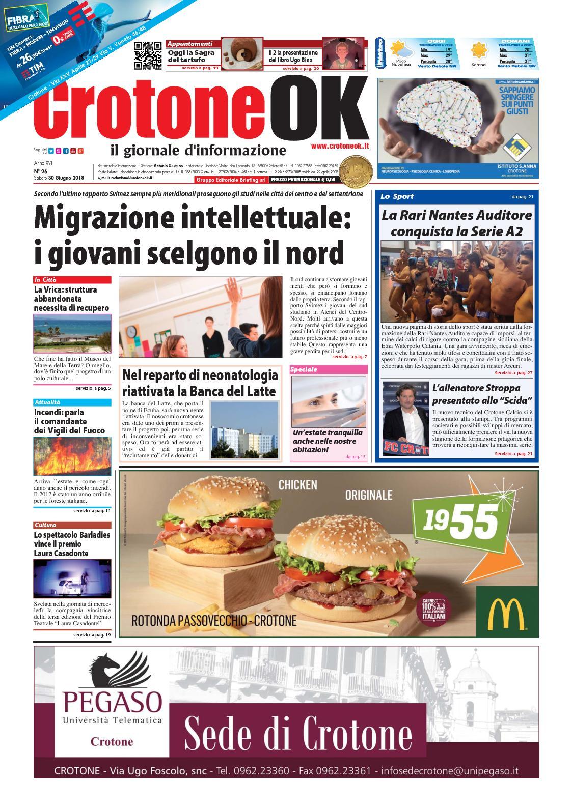 Calaméo Giornale Crotoneok N 26 2018