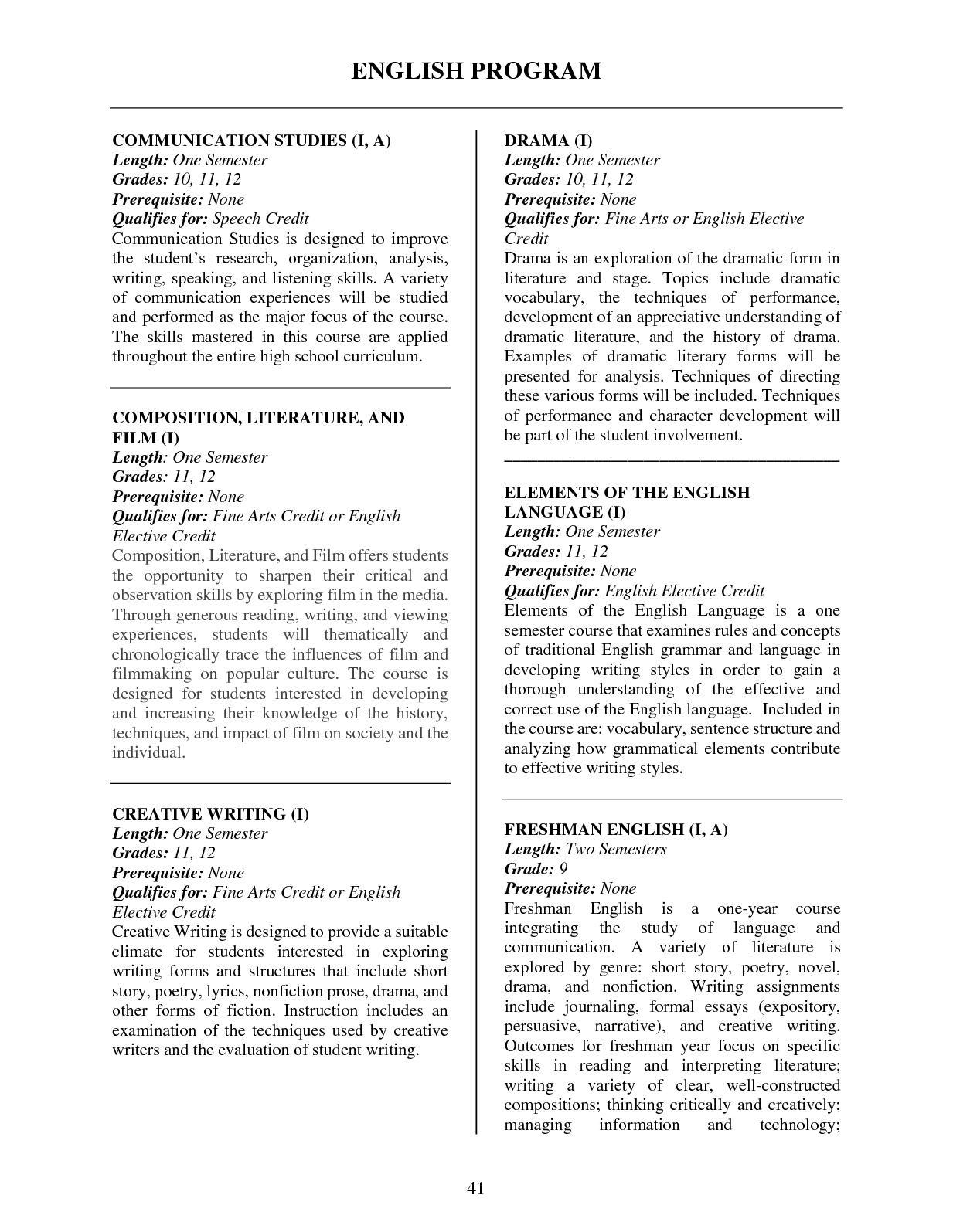 2018 19 High School Course Catalog - CALAMEO Downloader
