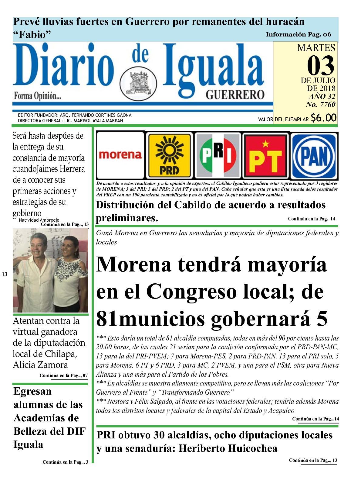 Calaméo Martes 03 De Julio De 2018 Diario De Iguala