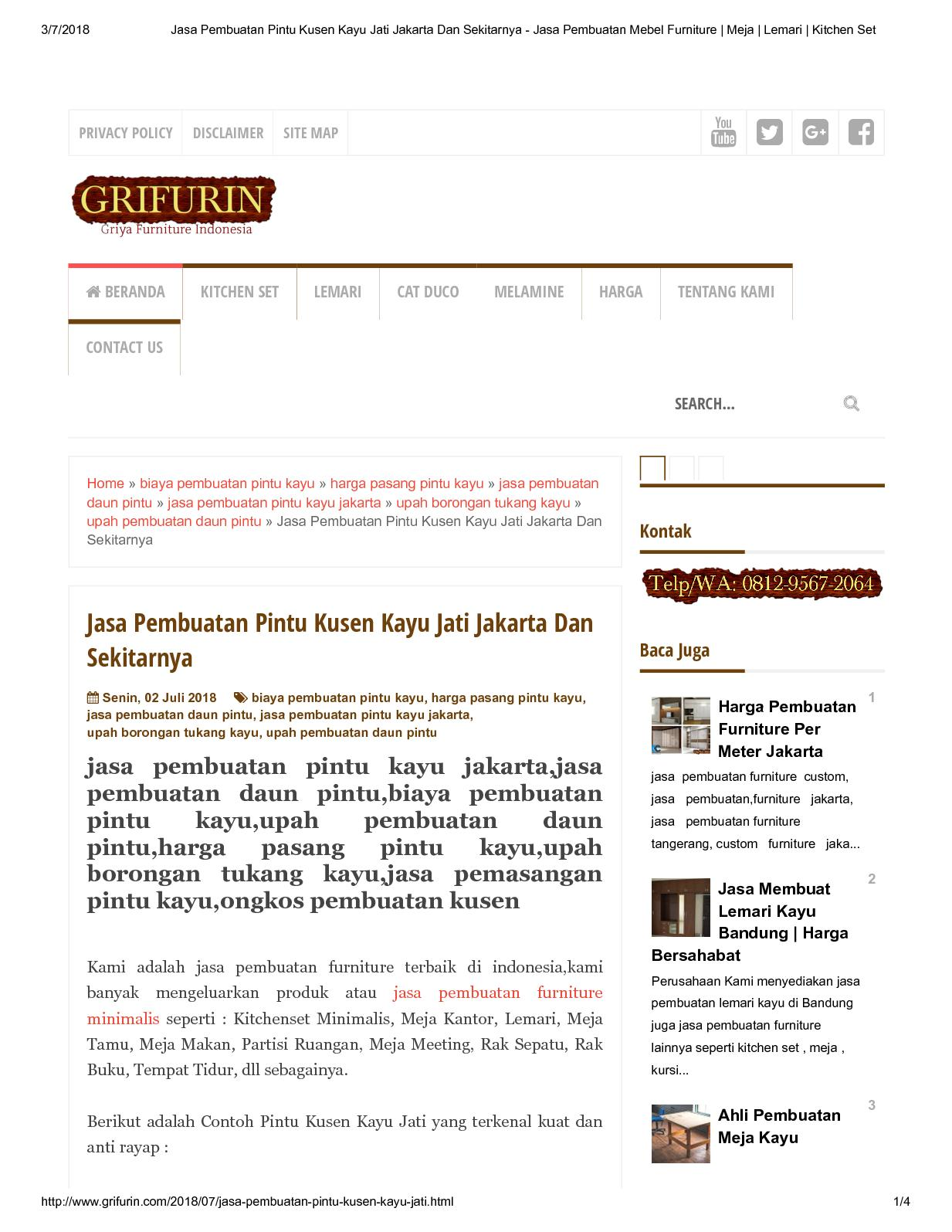 Calaméo Jasa Pembuatan Pintu Kusen Kayu Jati Jakarta Dan
