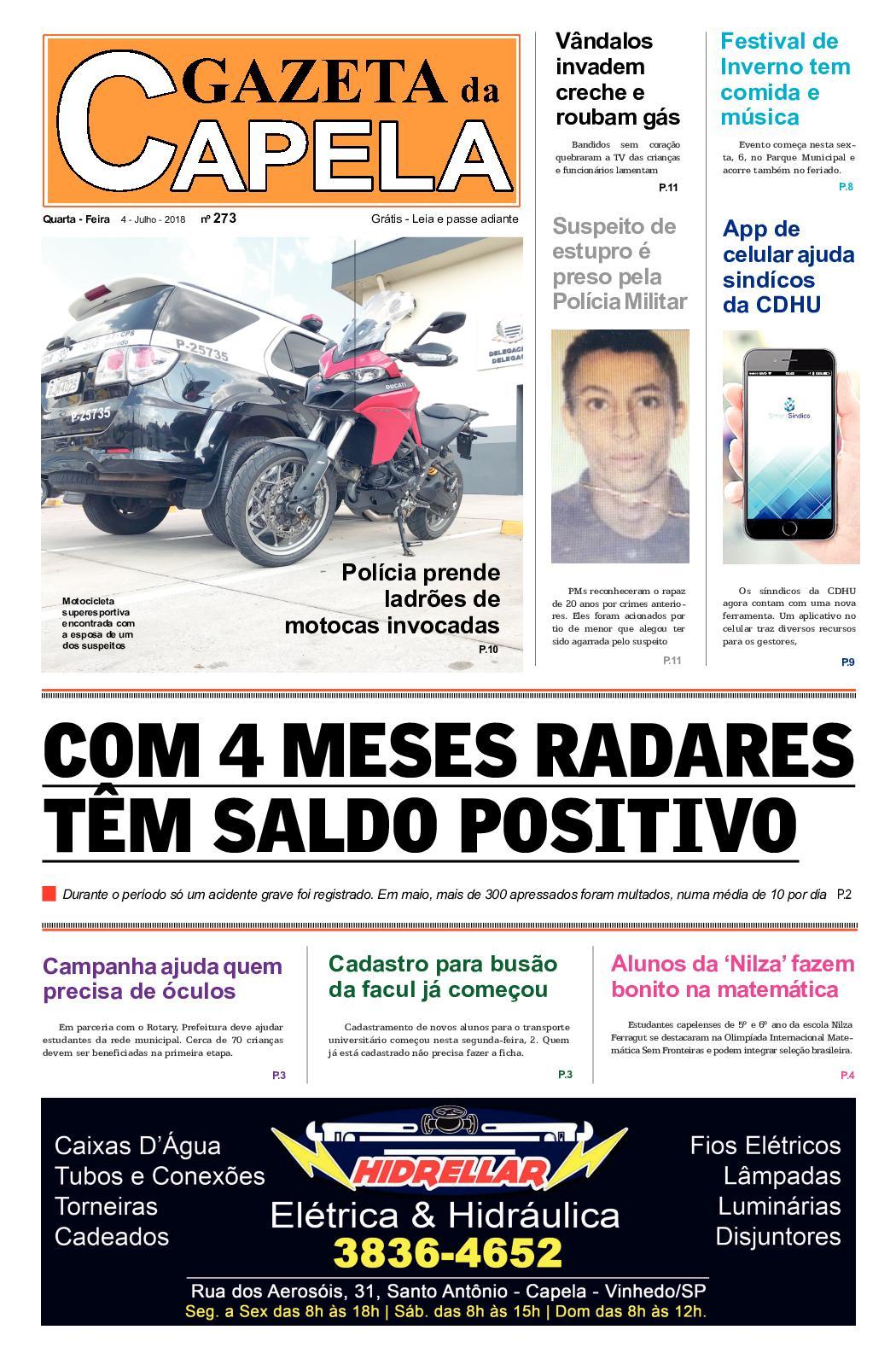 6caf98d2e Calaméo - Gazeta Da Capela 4 De Julho 2018 Edic 273
