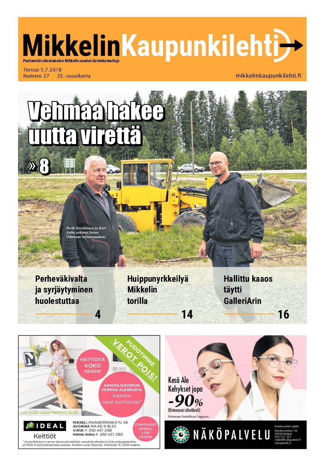 hyvä rakenne hyvä laatu tarjoavat alennuksia Calaméo - Mikkelin Kaupunkilehti 27/2018