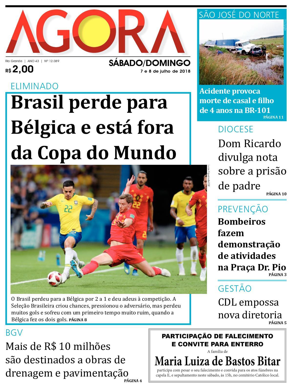 3e980c4d3 Calaméo - Jornal Agora- Edição 12089 - 7 e 8 de Julho de 2018