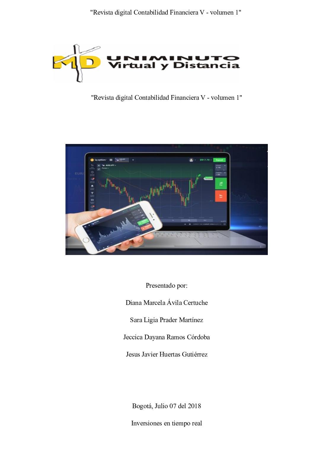 """""""Revista digital Contabilidad Financiera V - volumen 1"""""""