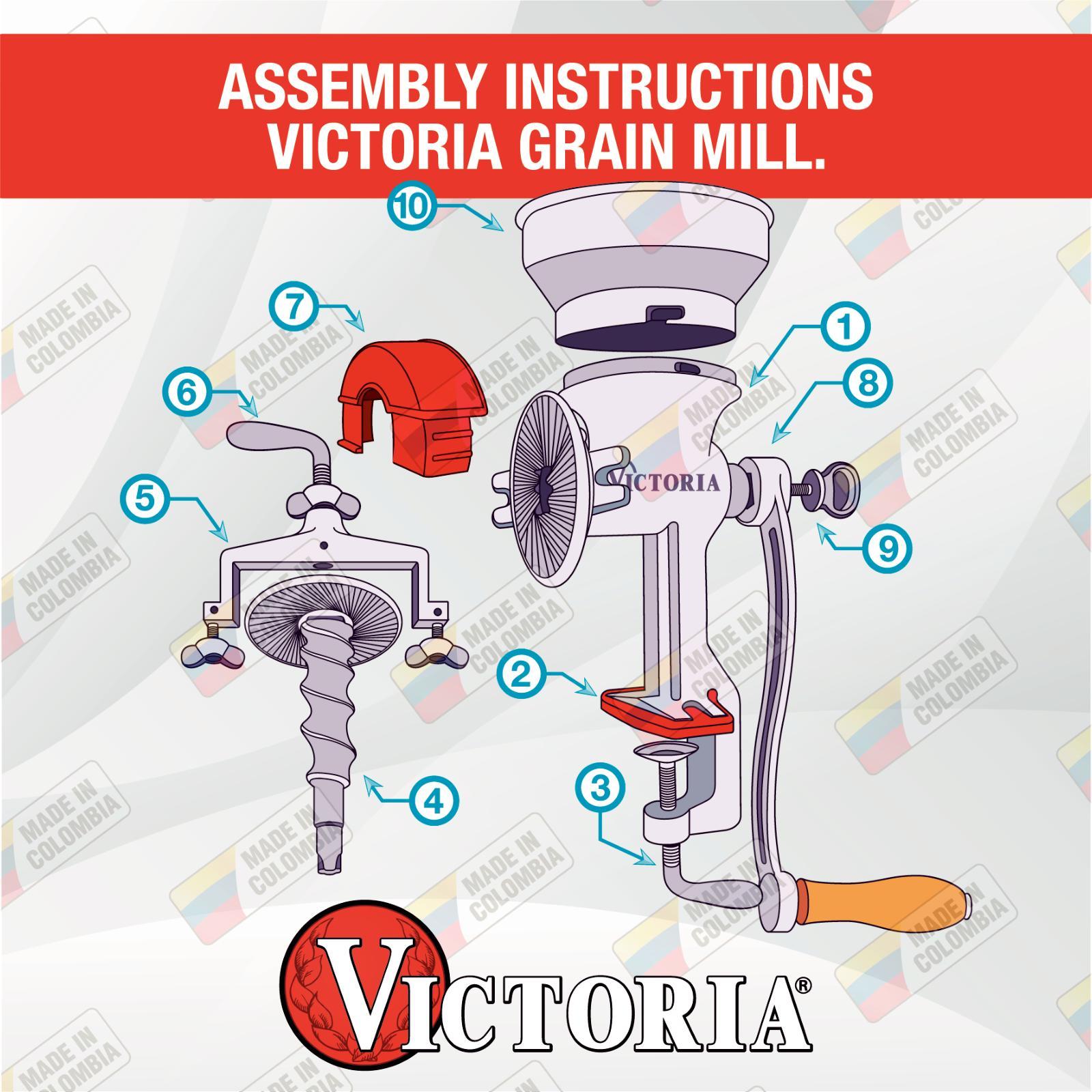 Calaméo - Assembly Instructions Victoria Grain Mill Digital