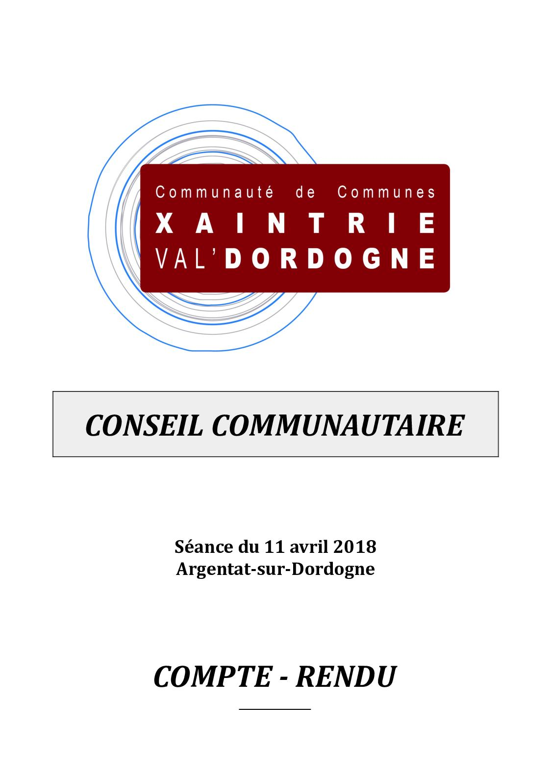 5e492d8c562a Calaméo - Conseil Communautaire 11 avril 2018