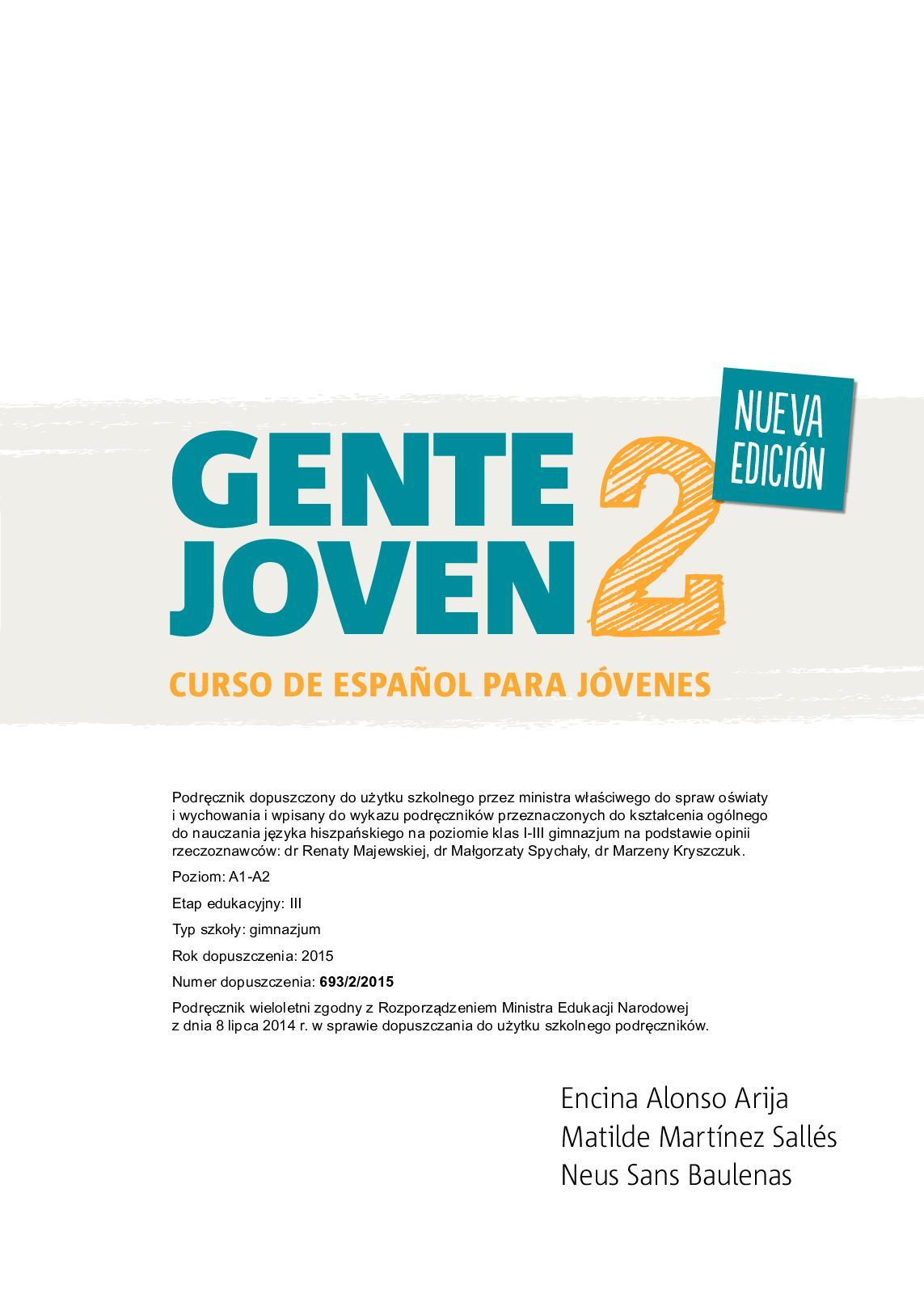 d2aa6227 Calaméo - Gente Joven 2 NE. Podręcznik