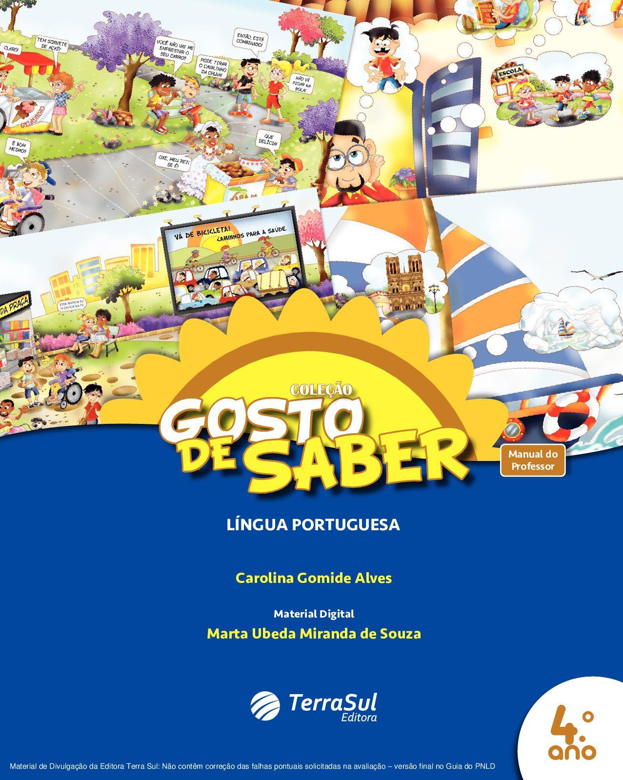 a065ea0d7 Calaméo - Coleção Gosto de Saber - Língua Portuguesa - Volume 4º ano  PROFESSOR