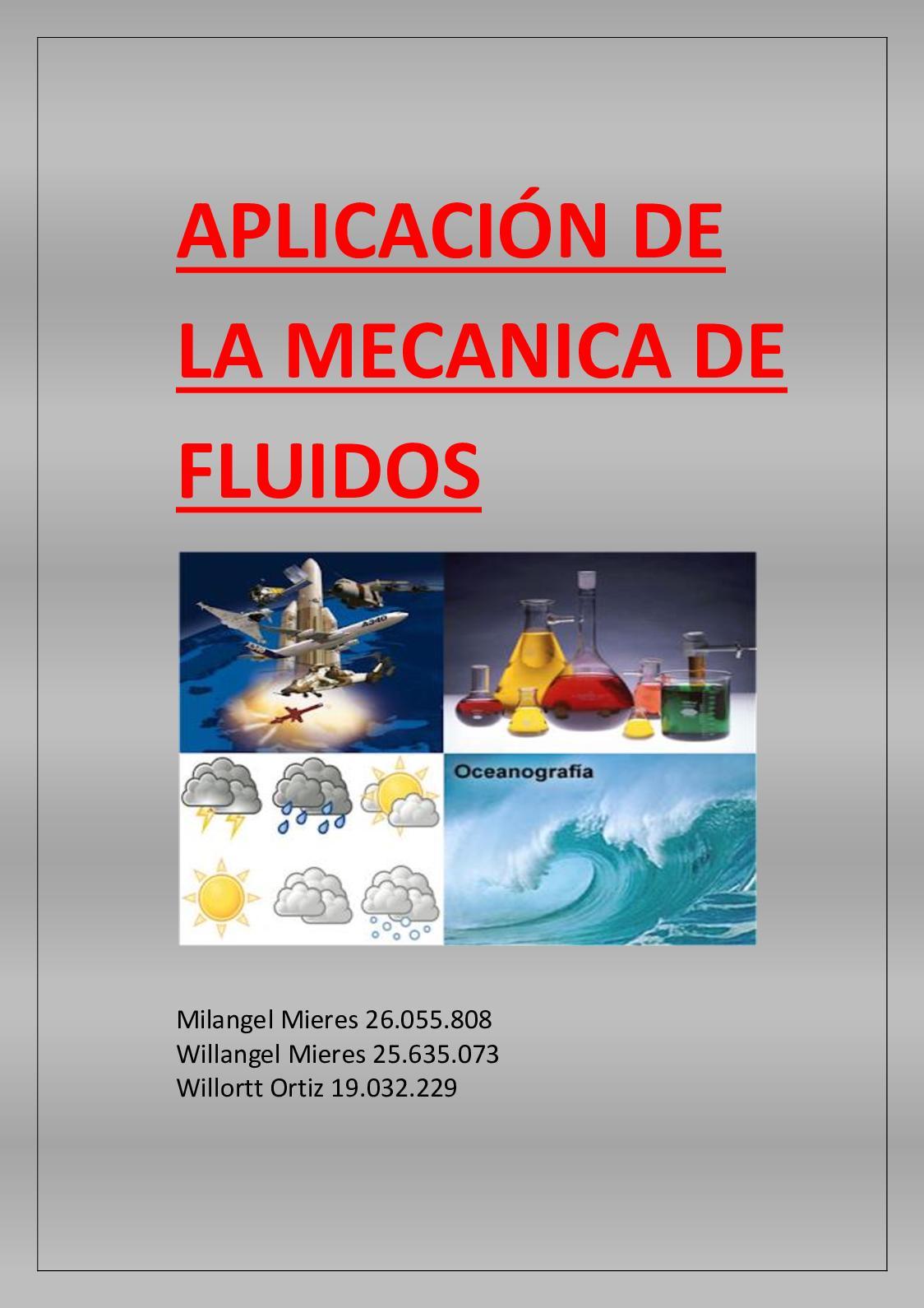 Calaméo Aplicación De La Mecanica De Fluidos