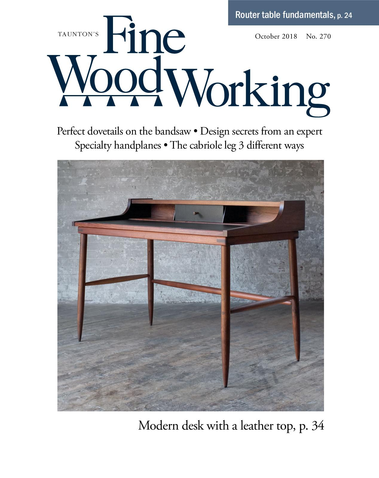 Calameo Fine Woodworking 270 September October 2018 Preview