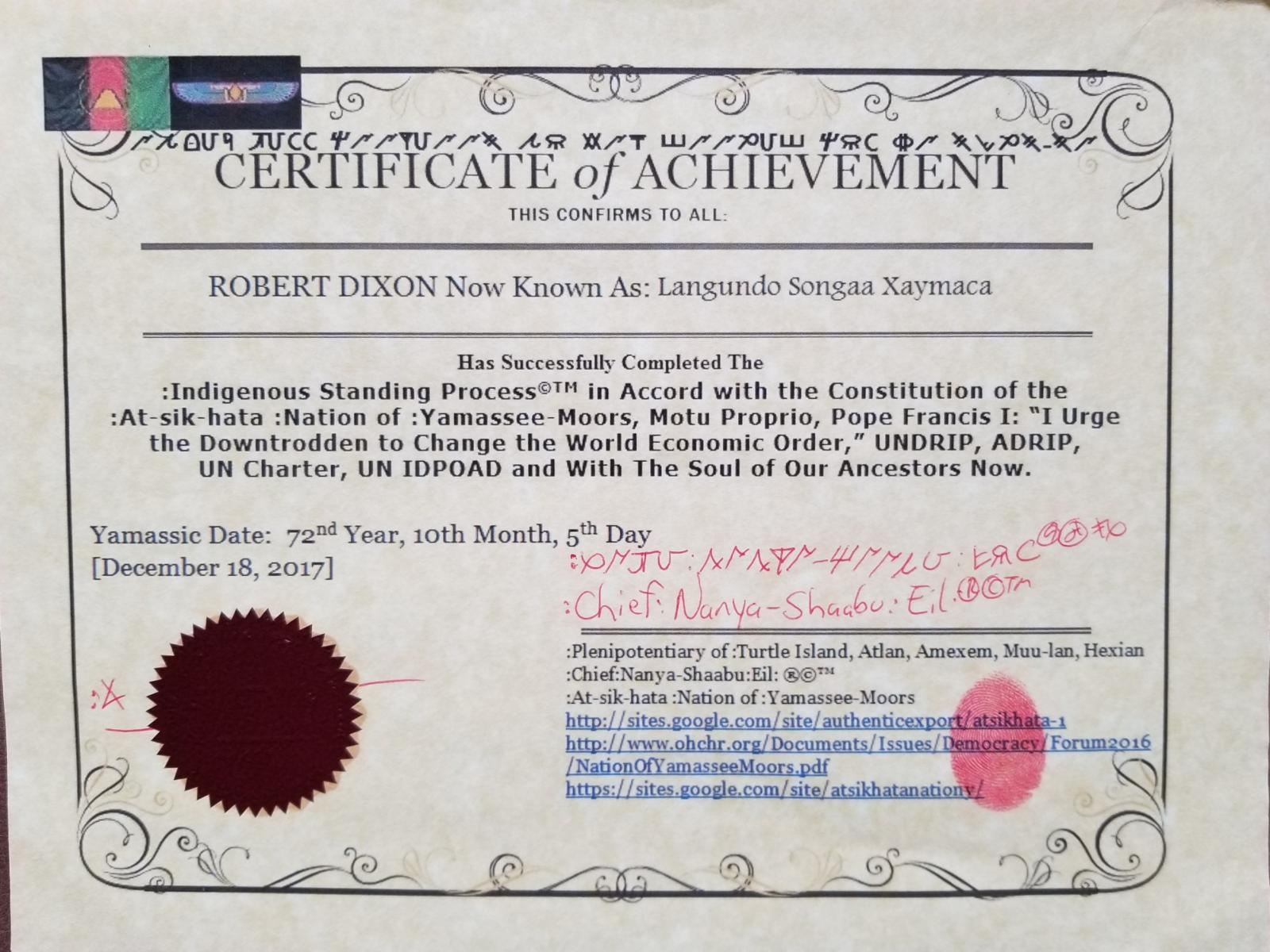 Calaméo - Indigenous Standing Process Certificate Of Achievement