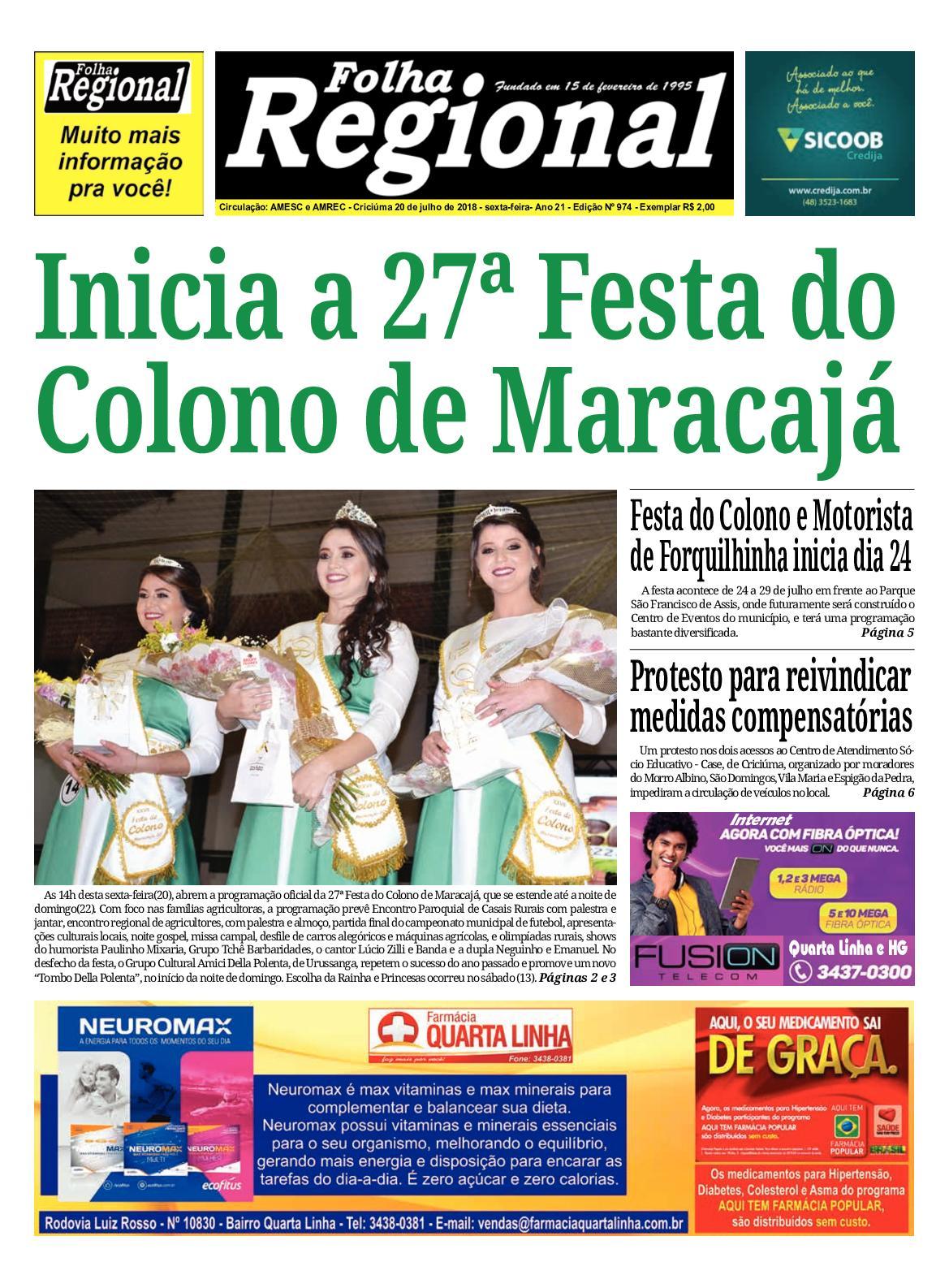 Folha Regional Ed.974 - 20 07 2018 - CALAMEO Downloader ee662e659b