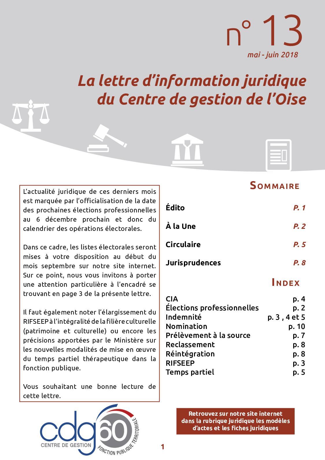 Calameo Lettre D Information Juridique N 13 Juillet 2018
