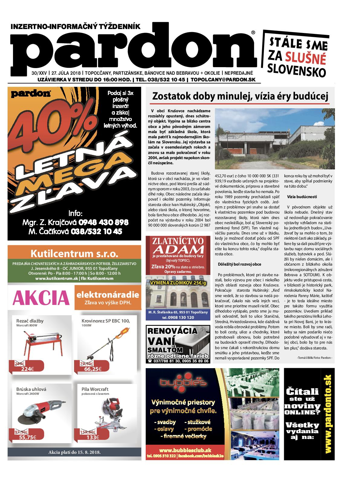 11c39710dc60 Calaméo - Pardon Topoľčany 30 2018