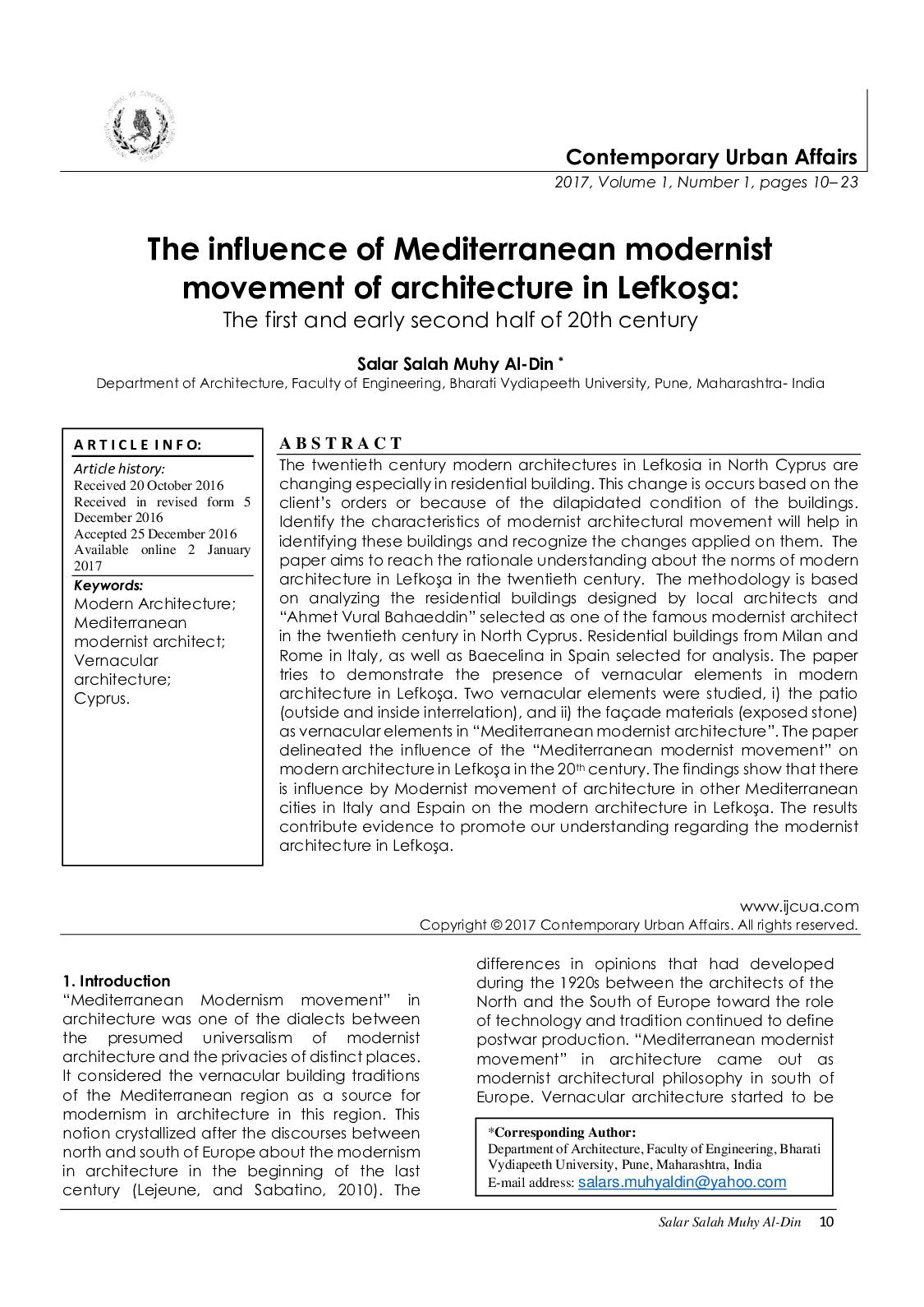 Calaméo - The influence of Mediterranean modernist movement