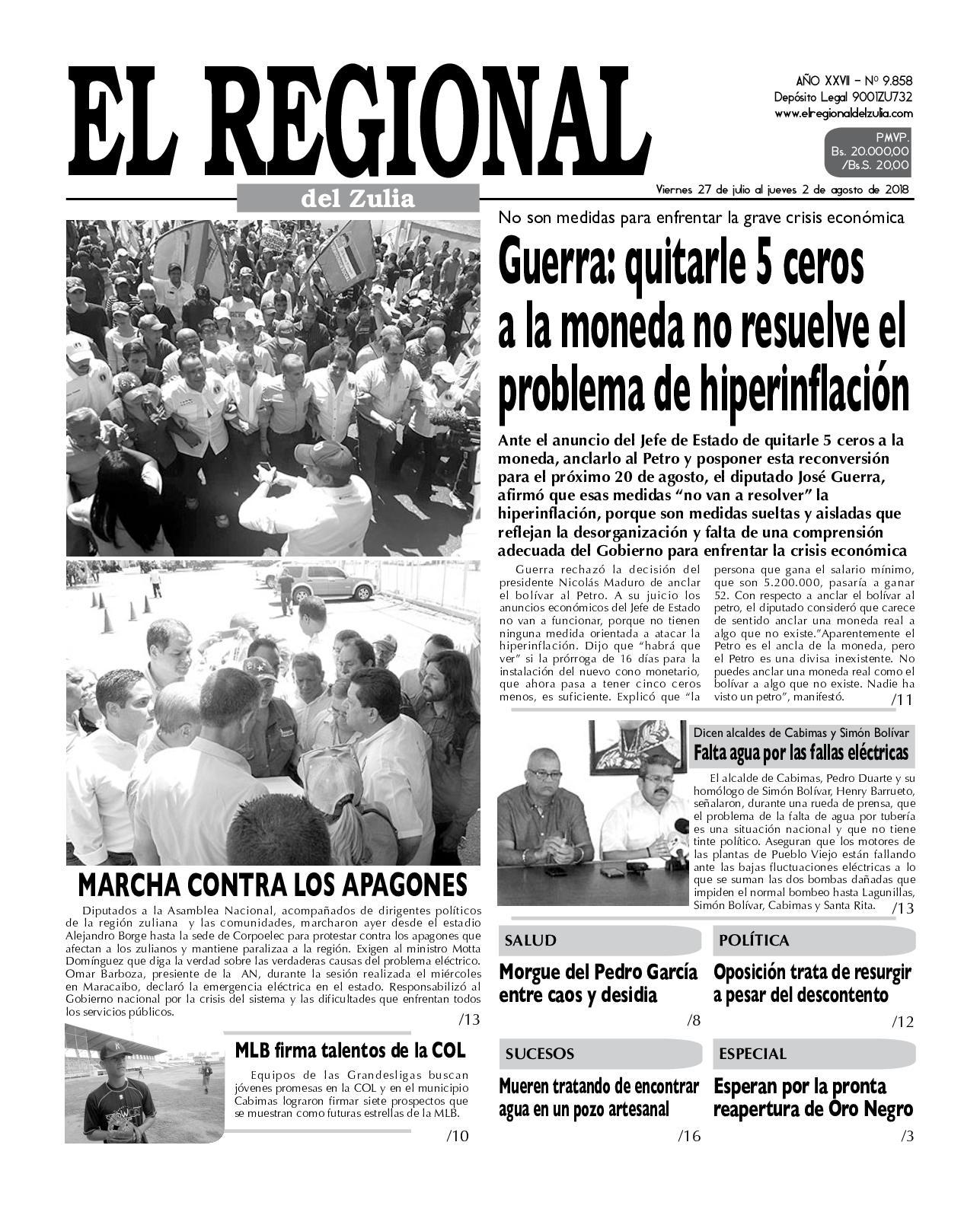 Calaméo El Regional del Zulia 27 07 2018