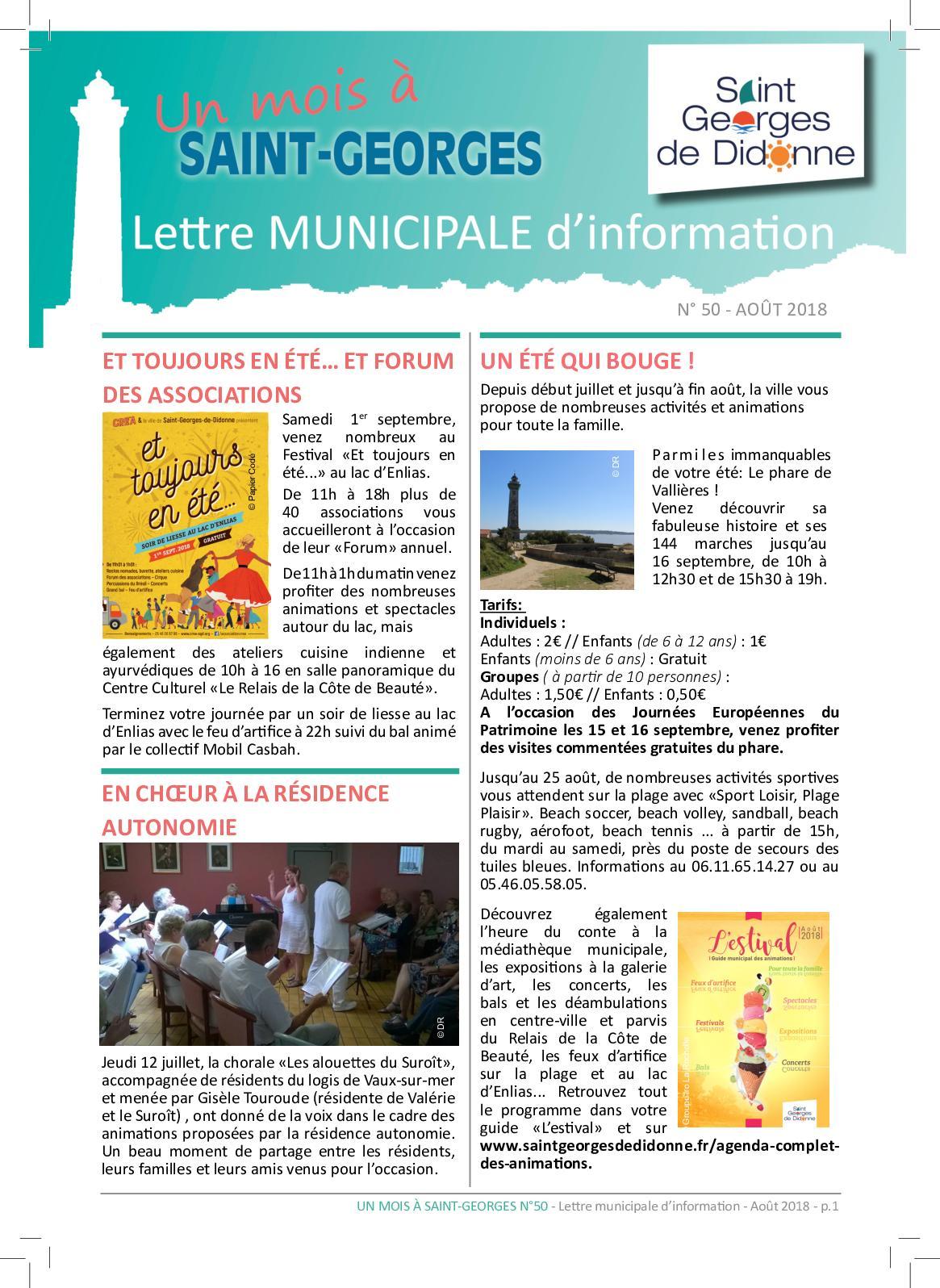Anima Conseil Saint Georges De Didonne calaméo - n°50 août 2018