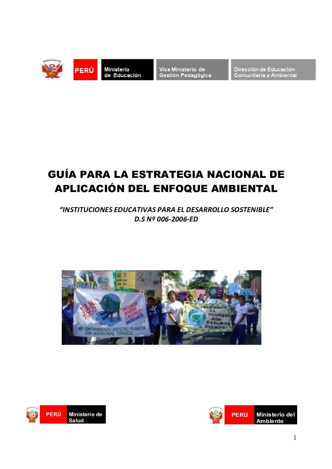 Calameo Libro Guia Para La Estratgeia Nacional De Implementacion De Enfoque Ambiental
