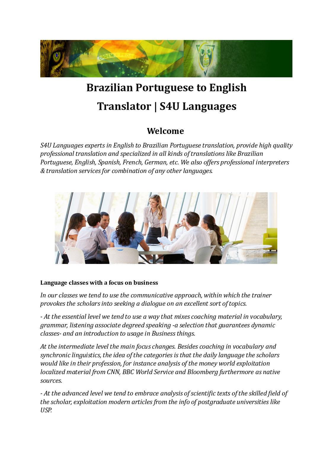 Calaméo - Brazilian Portuguese Translations