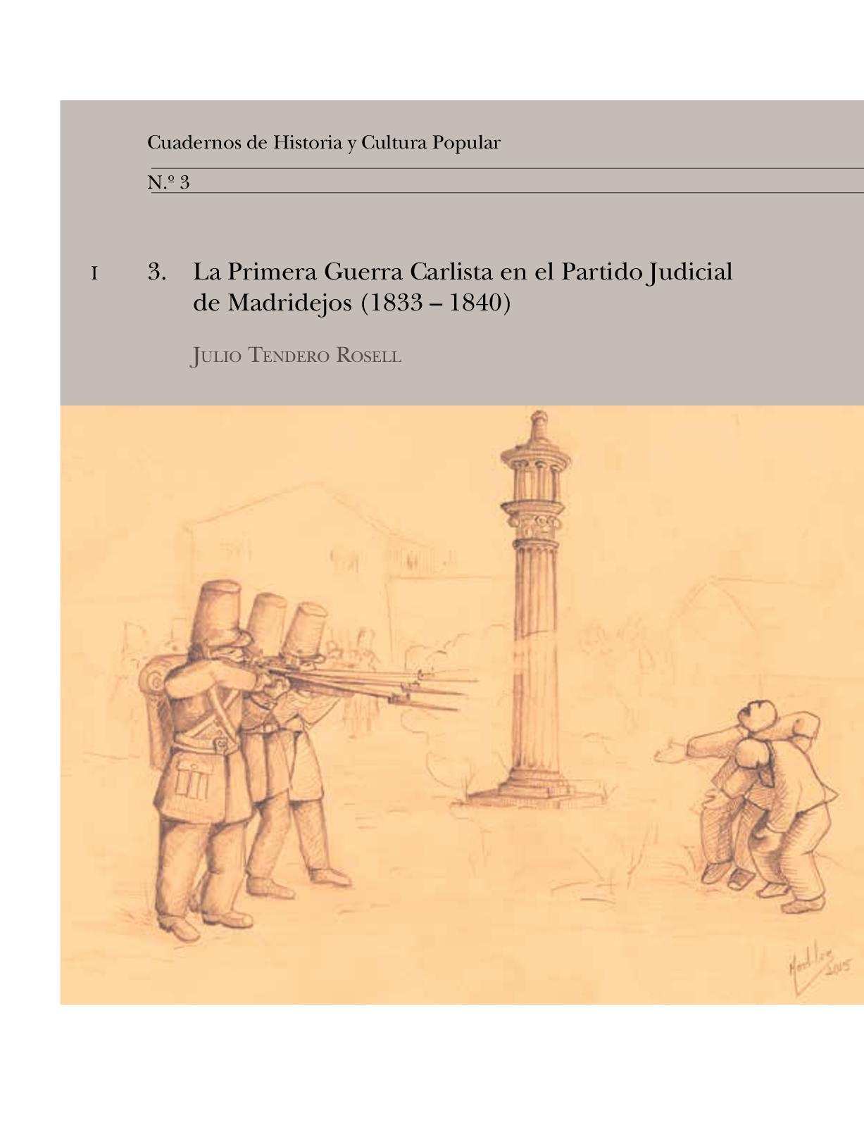 La Primera Guerra Carlista en el Partido Judicial de Madridejos (1833 – 1840)