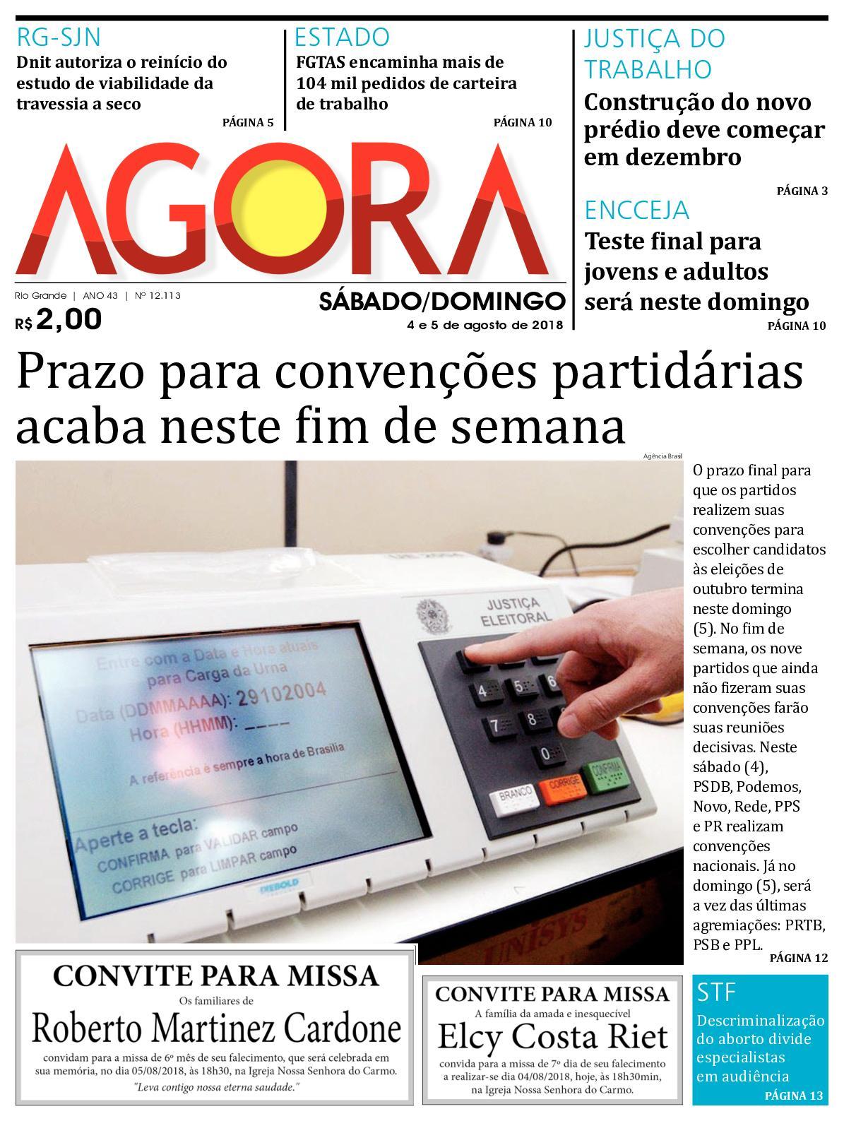 Calaméo - Jornal Agora - Edição 12113 - 4 e 5 de Agosto de 2018 dfcccaaa06538