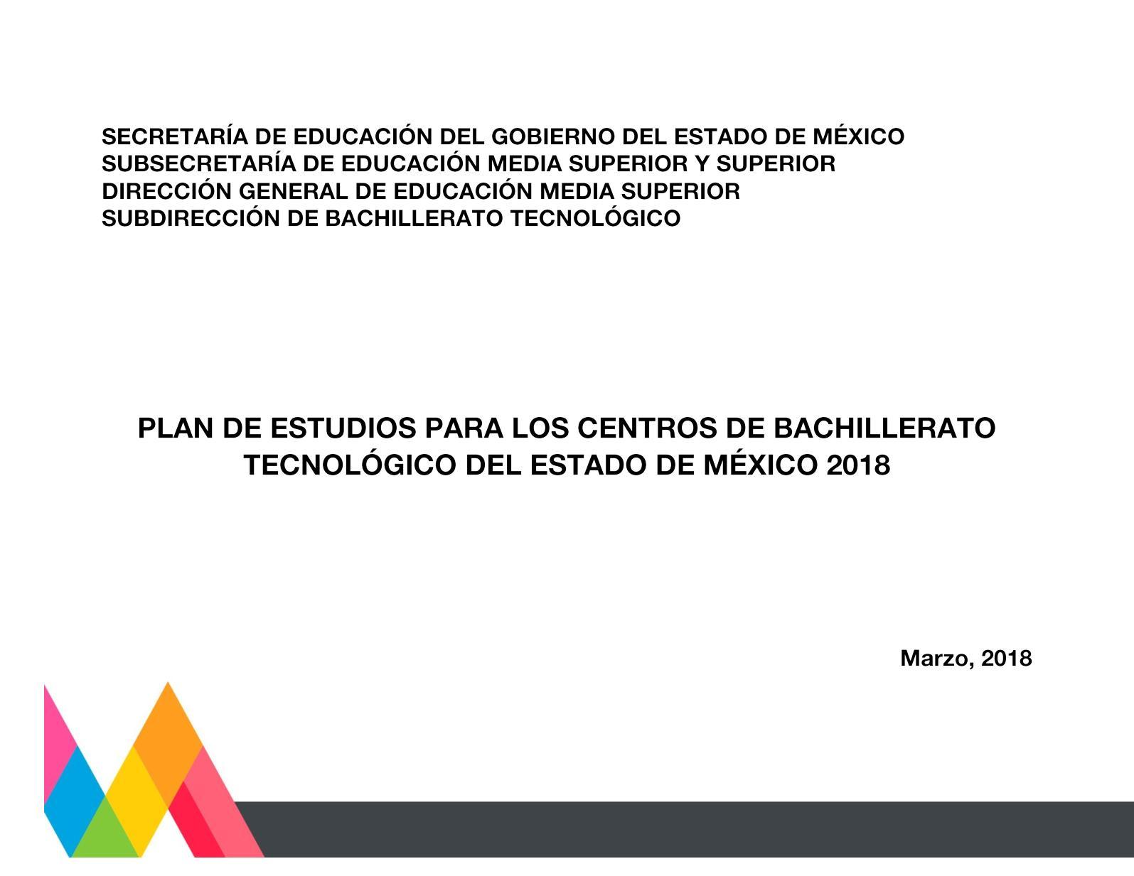 Calaméo Plan Estudios Bt 2018 Modificado