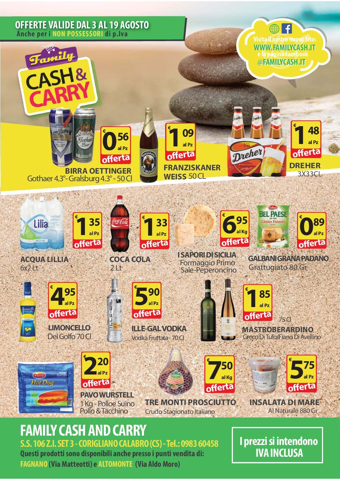 Calam o volantino family cash and carry n 23 agosto 2018 for Volantino acqua e sapone sicilia