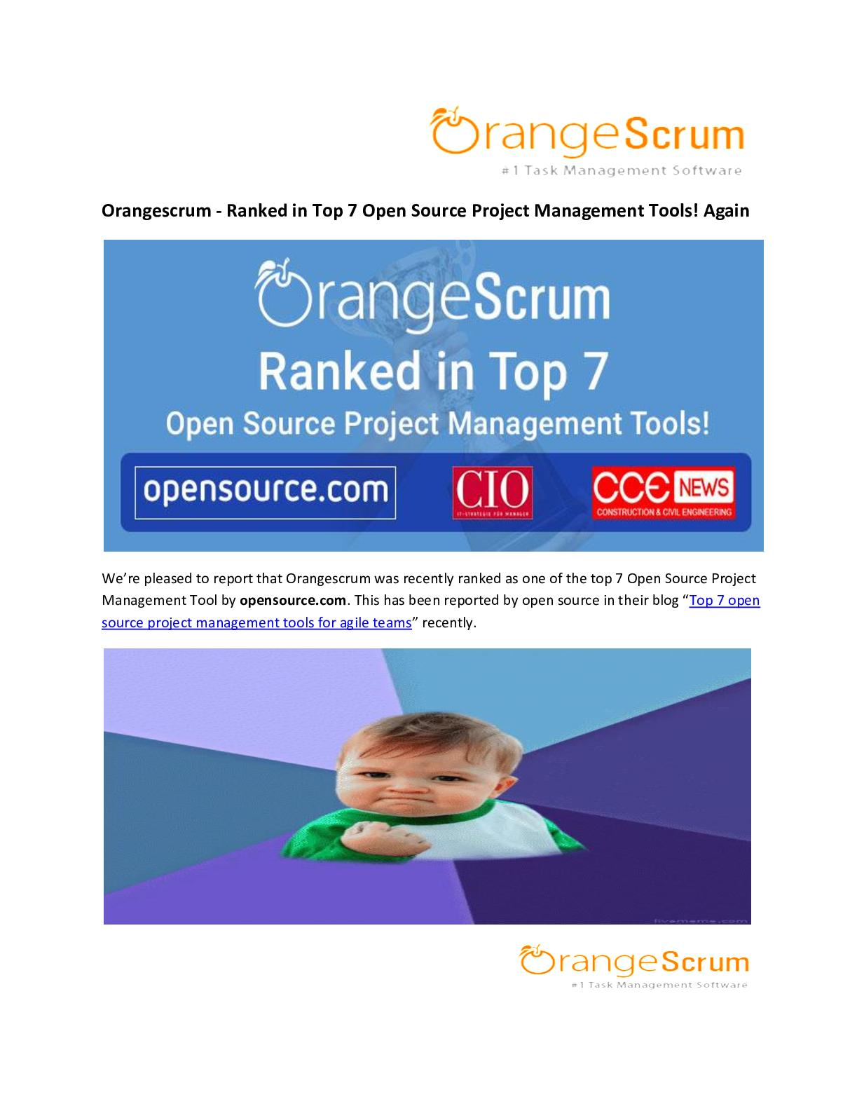 Calaméo - Orangescrum - Ranked in Top 7 Open Source Project