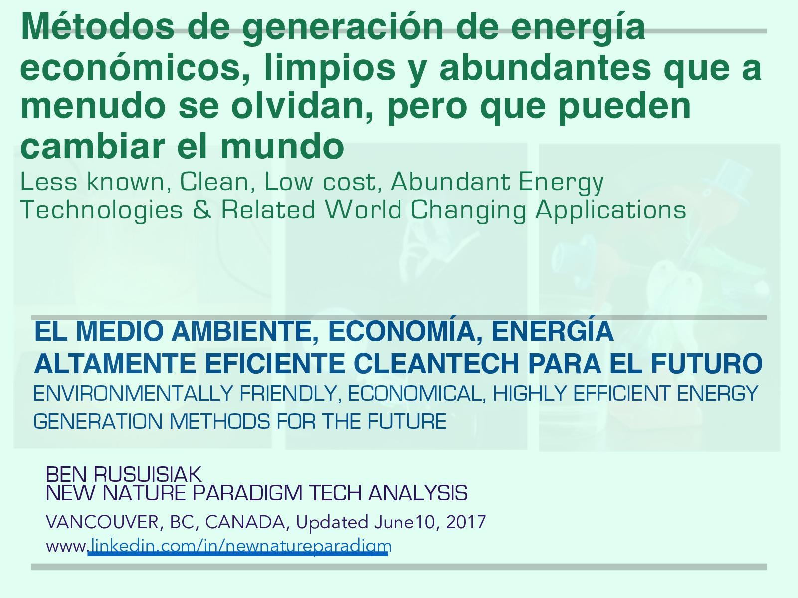 Calaméo - Métodos de generación de energía económicos, limpios y