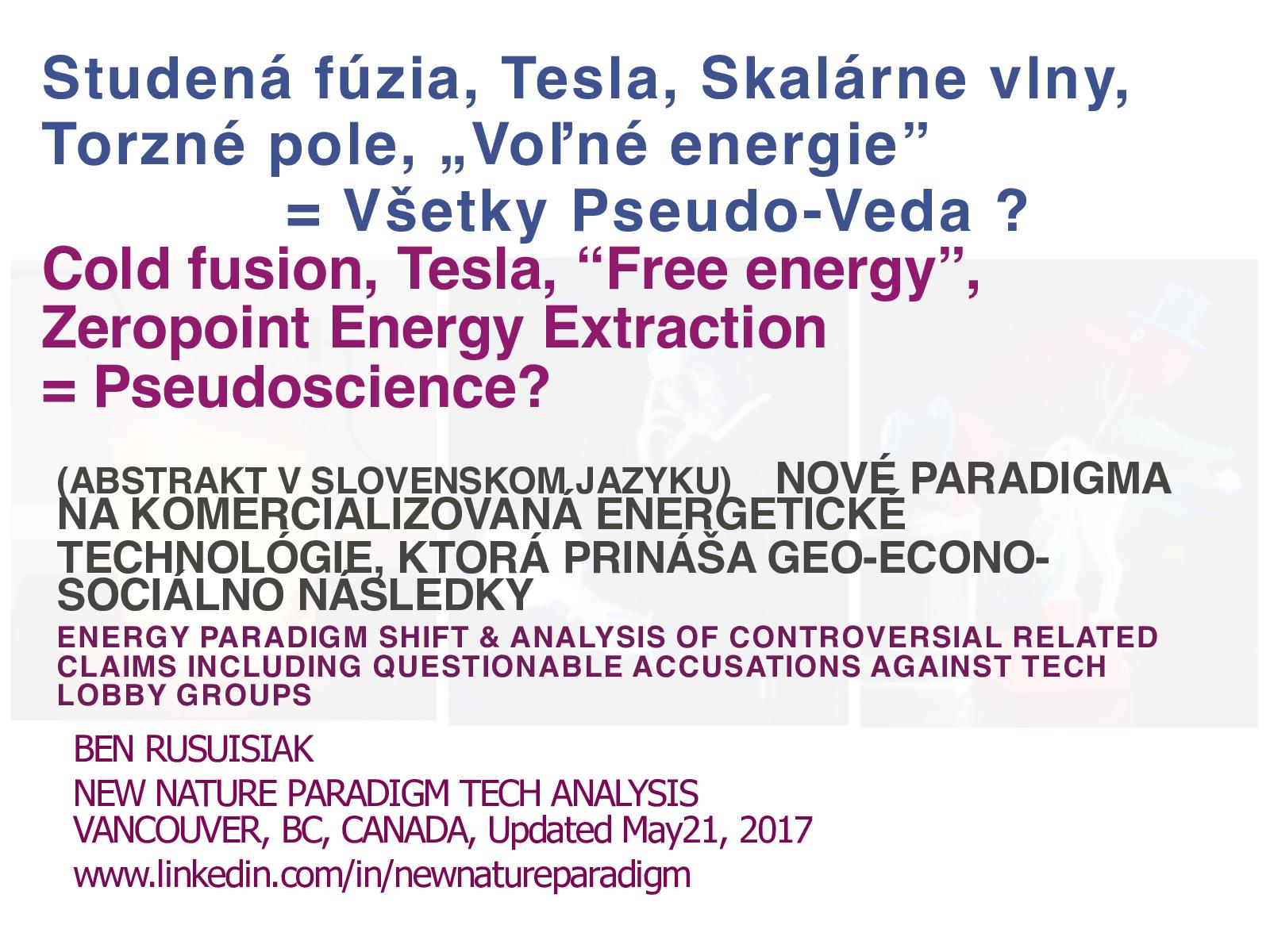 Calaméo - Studená Fúzia, Tesla, Skalárne Vlny, Torzné Pole