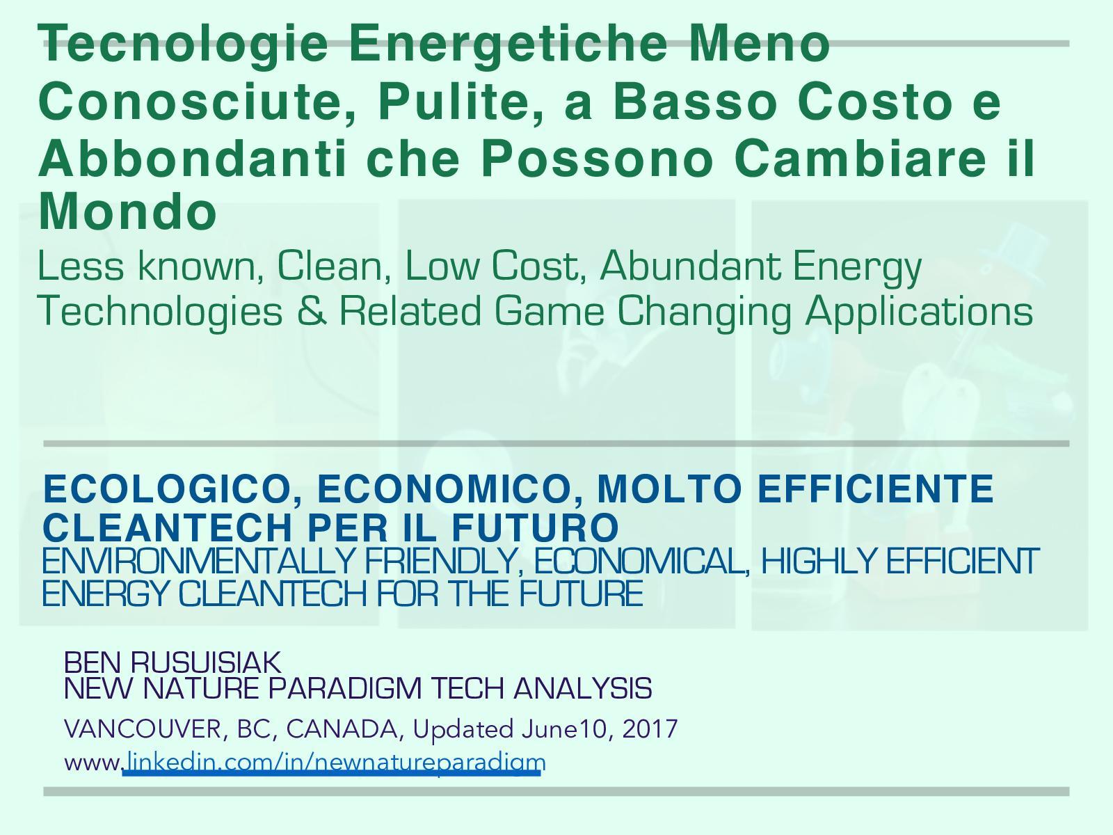 Calaméo - Tecnologie energetiche meno conosciute, pulite, a