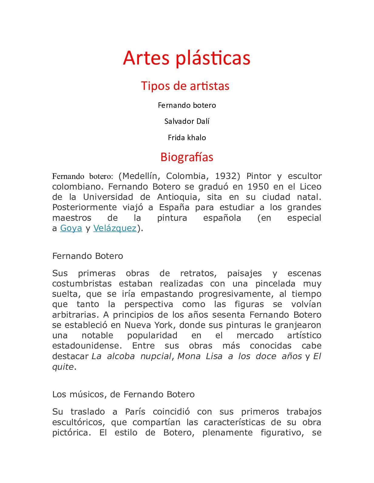 Calaméo Artes Plásticas