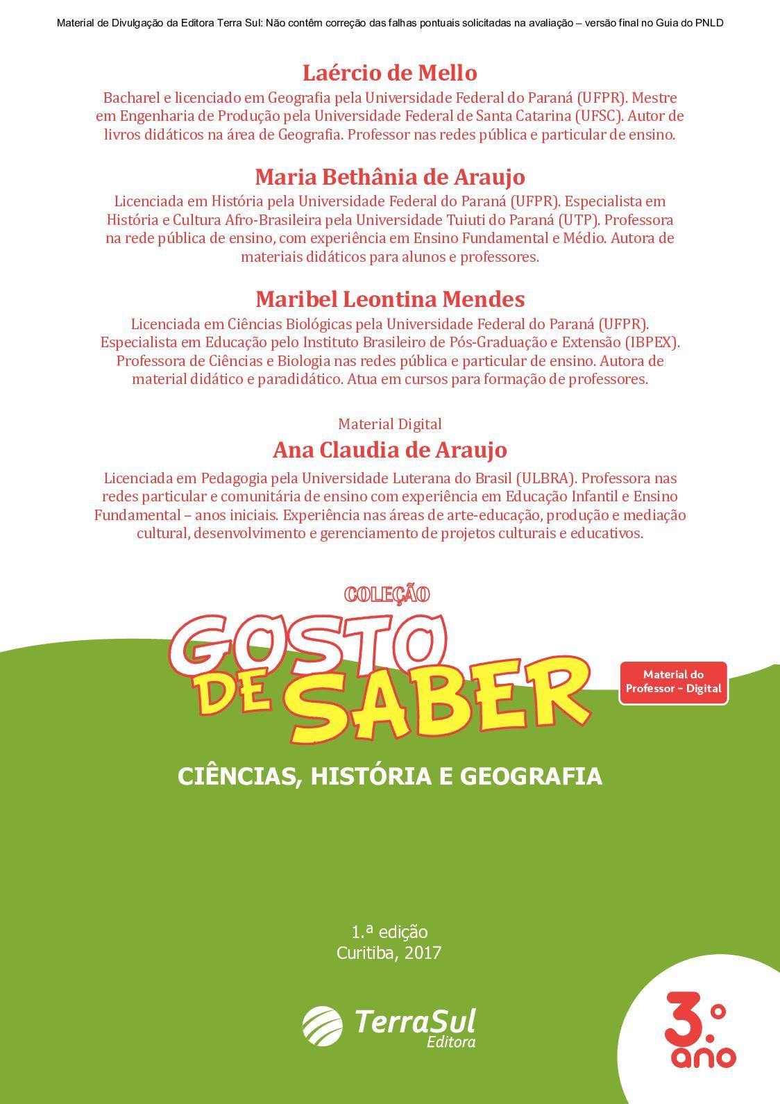 95910d831ab22 Calaméo - Material Digital  Gosto de Saber - Interdisciplinar Ciências,  História e Geografia 3º ano