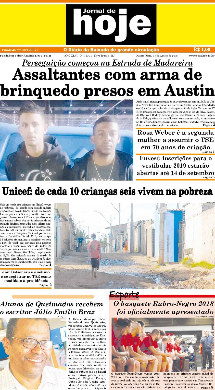 Calaméo - Jornal De Hoje 150818 364331f4f646a