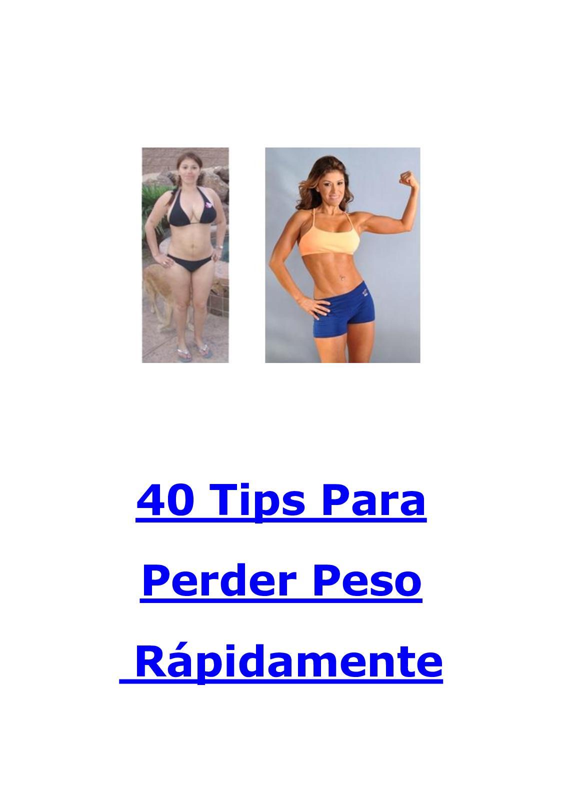 Como bajar de peso rapidamente tips
