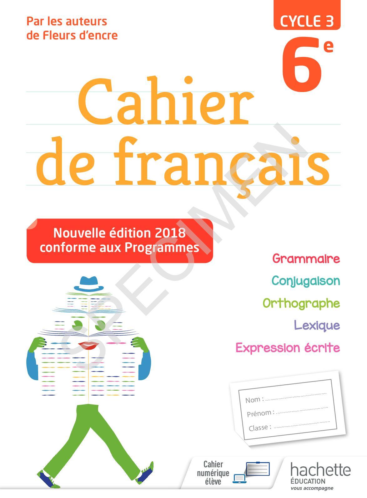 Calameo Cahier Francais 6e