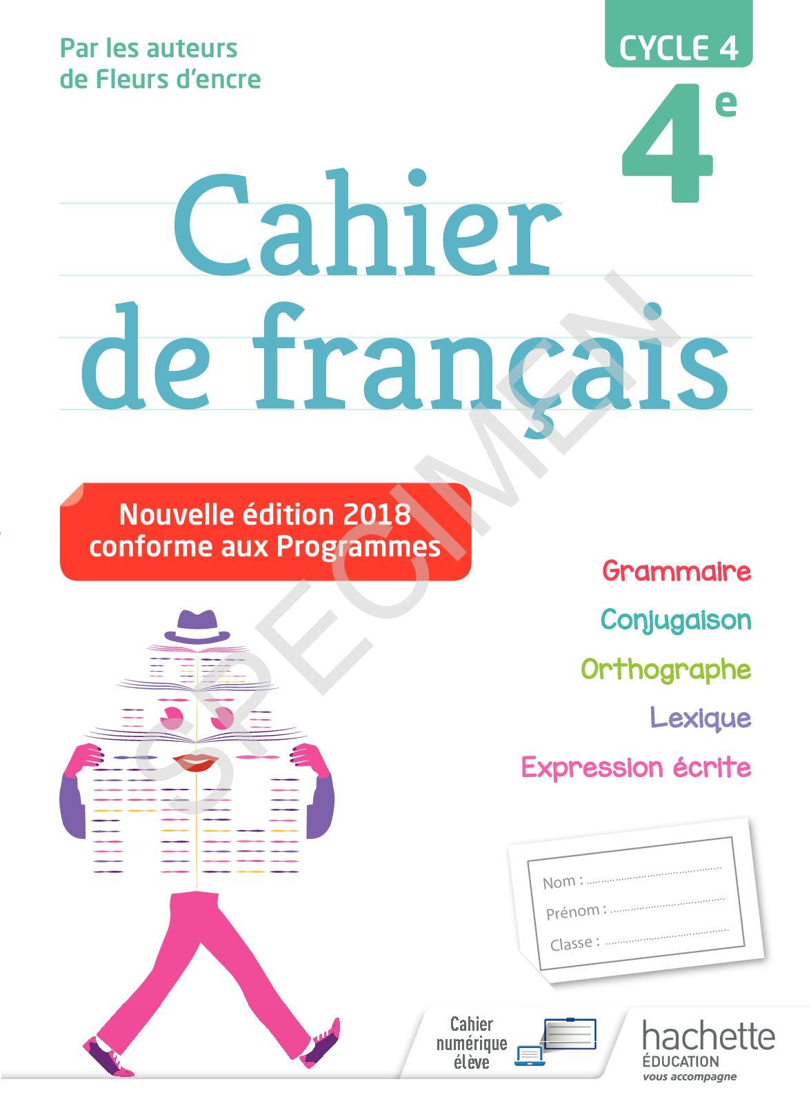 Calameo Cahier Francais 4e