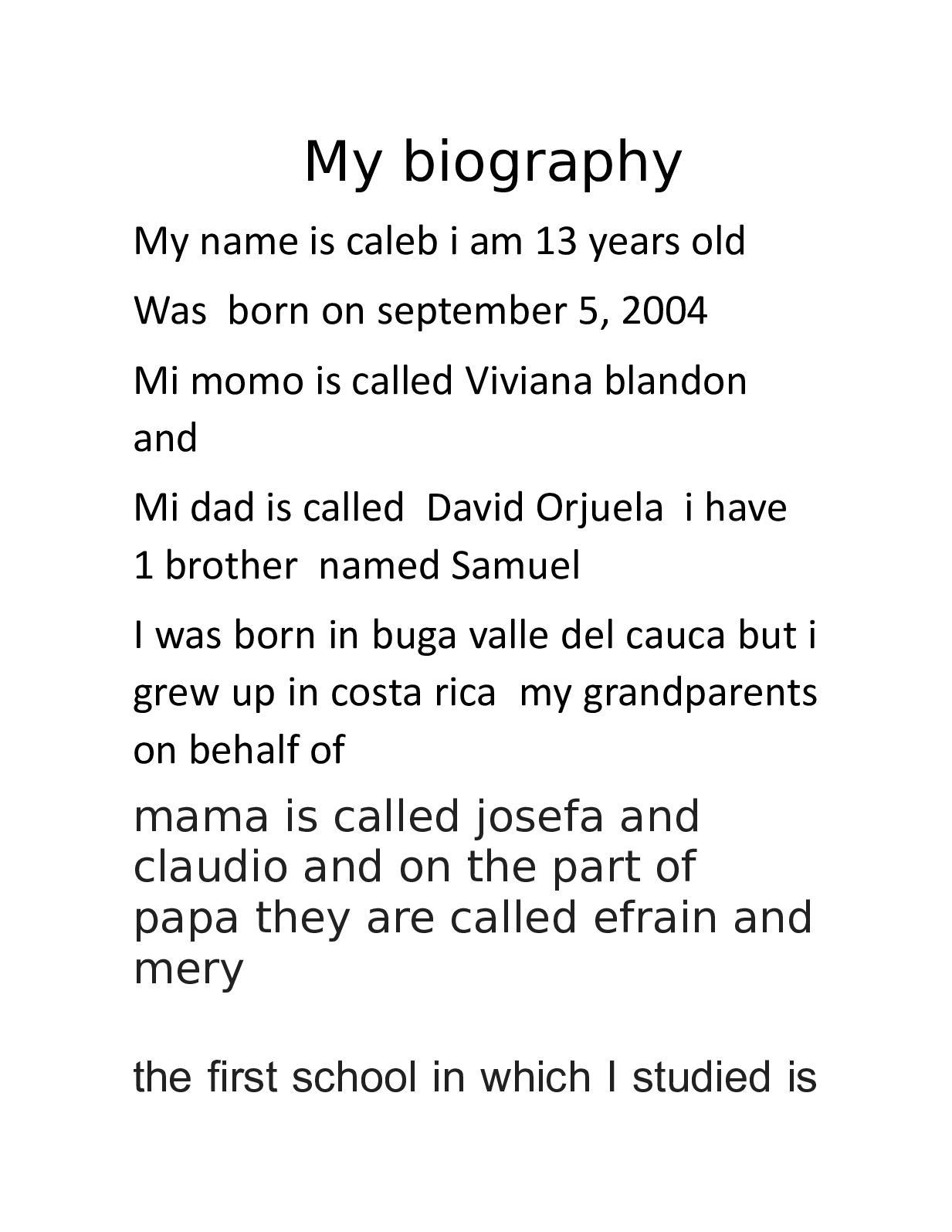 Calaméo - My Biography