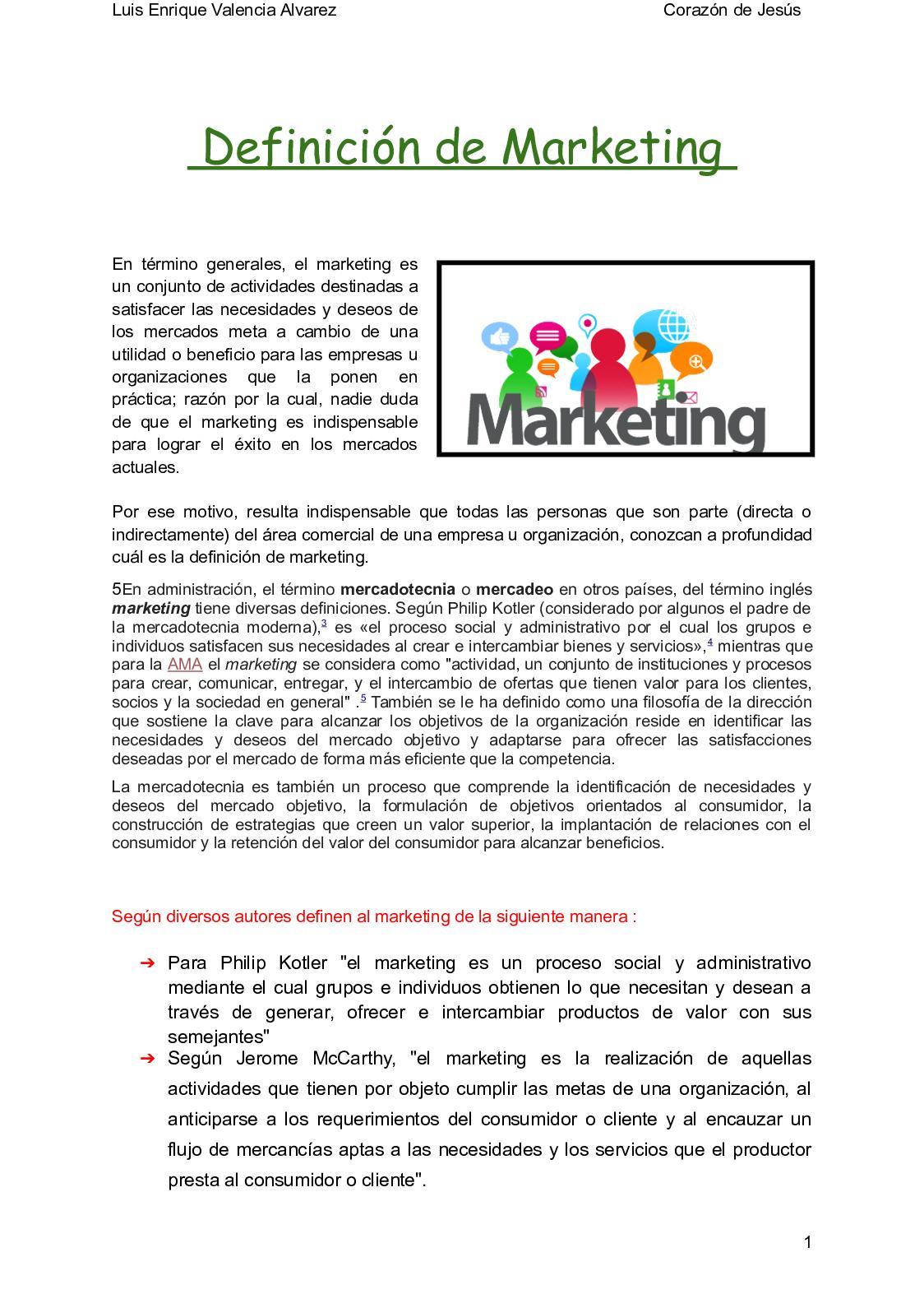 Definición De Marketing(1)