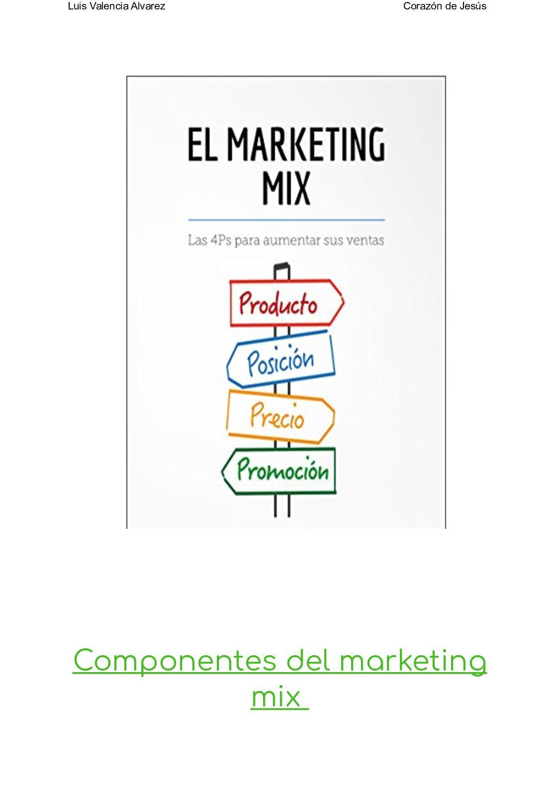 Calaméo Componentes Del Marketing Mix