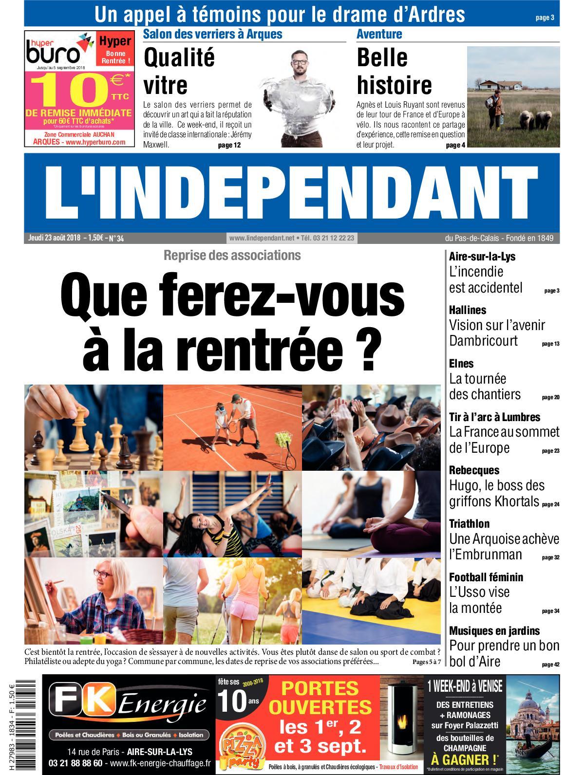 Calaméo Lindépendant Semaine 34 2018