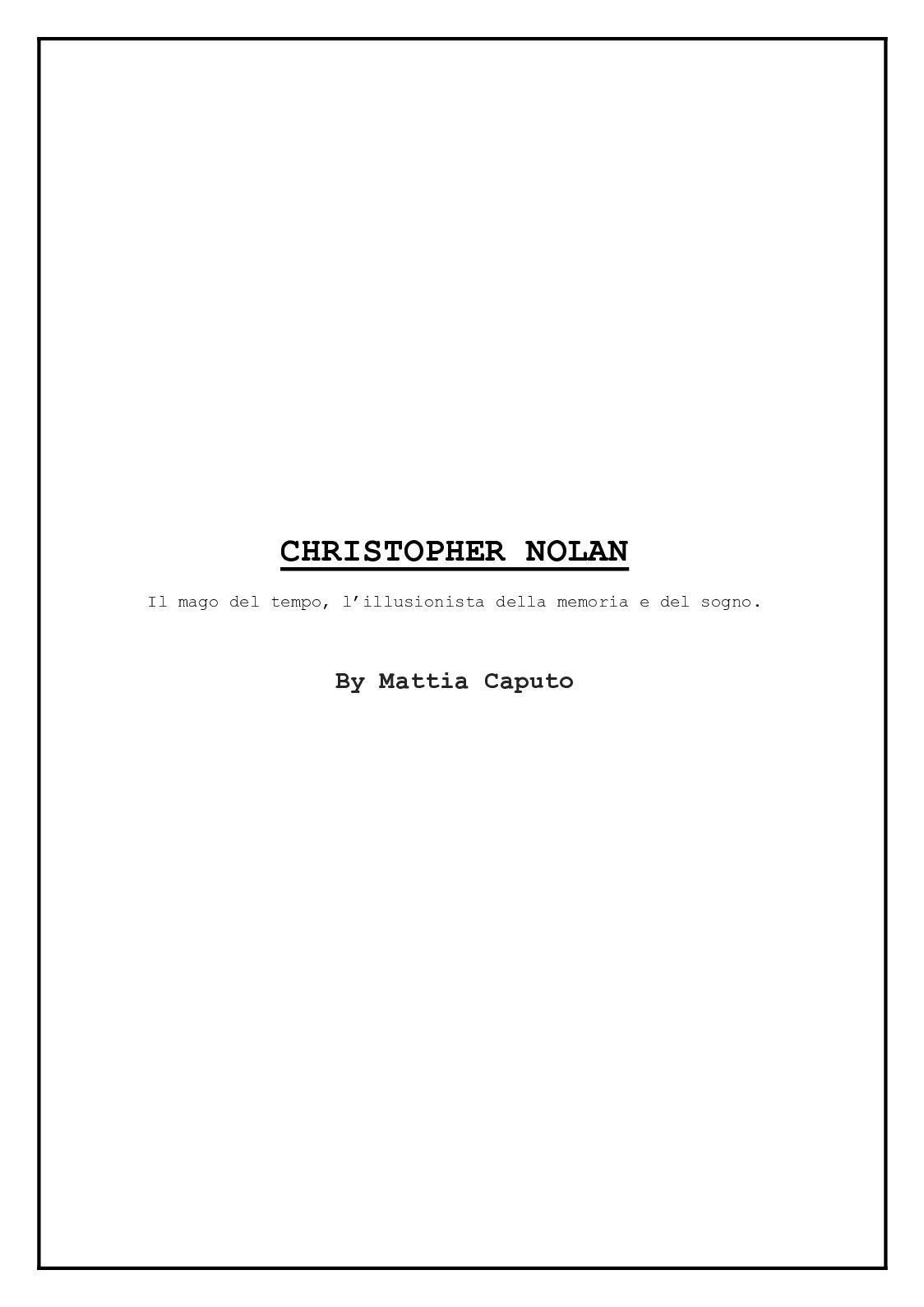 Calaméo Christopher Nolan By Mattia Caputo