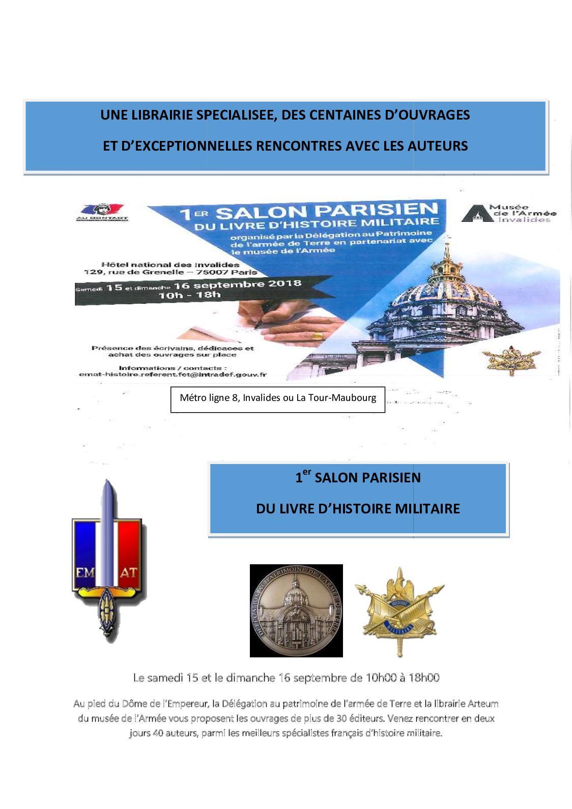 Calameo Premier Salon Parisien Du Livre D Histoire Militaire