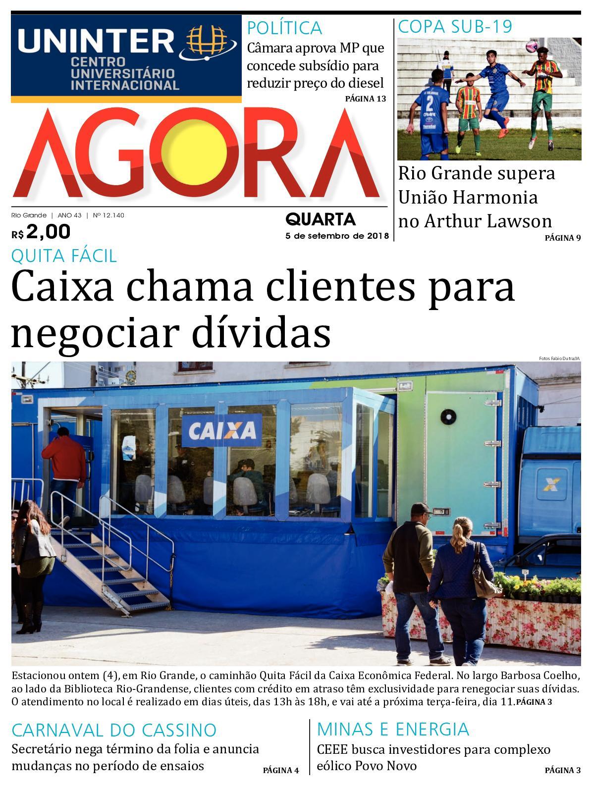 fb61ed45d Calaméo - Jornal Agora - Edição 12140 - 5 de Setembro de 2018