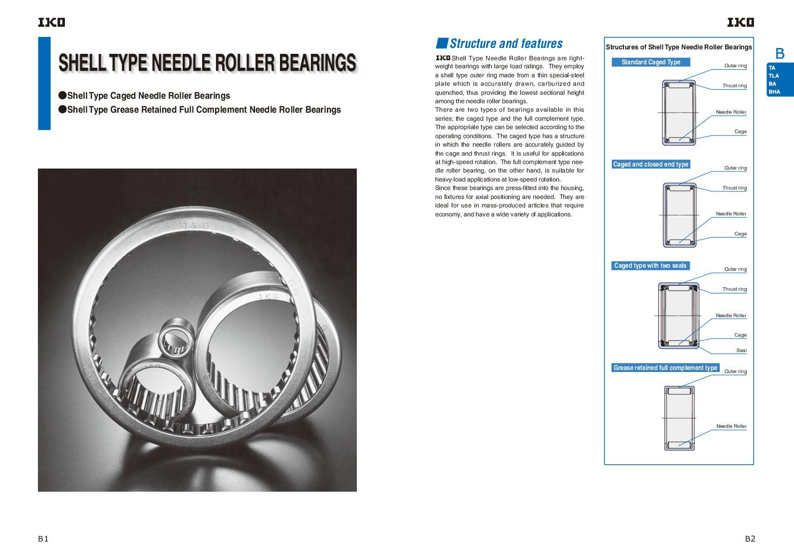 TLAM4016 IKO Shell Needle Roller Bearings