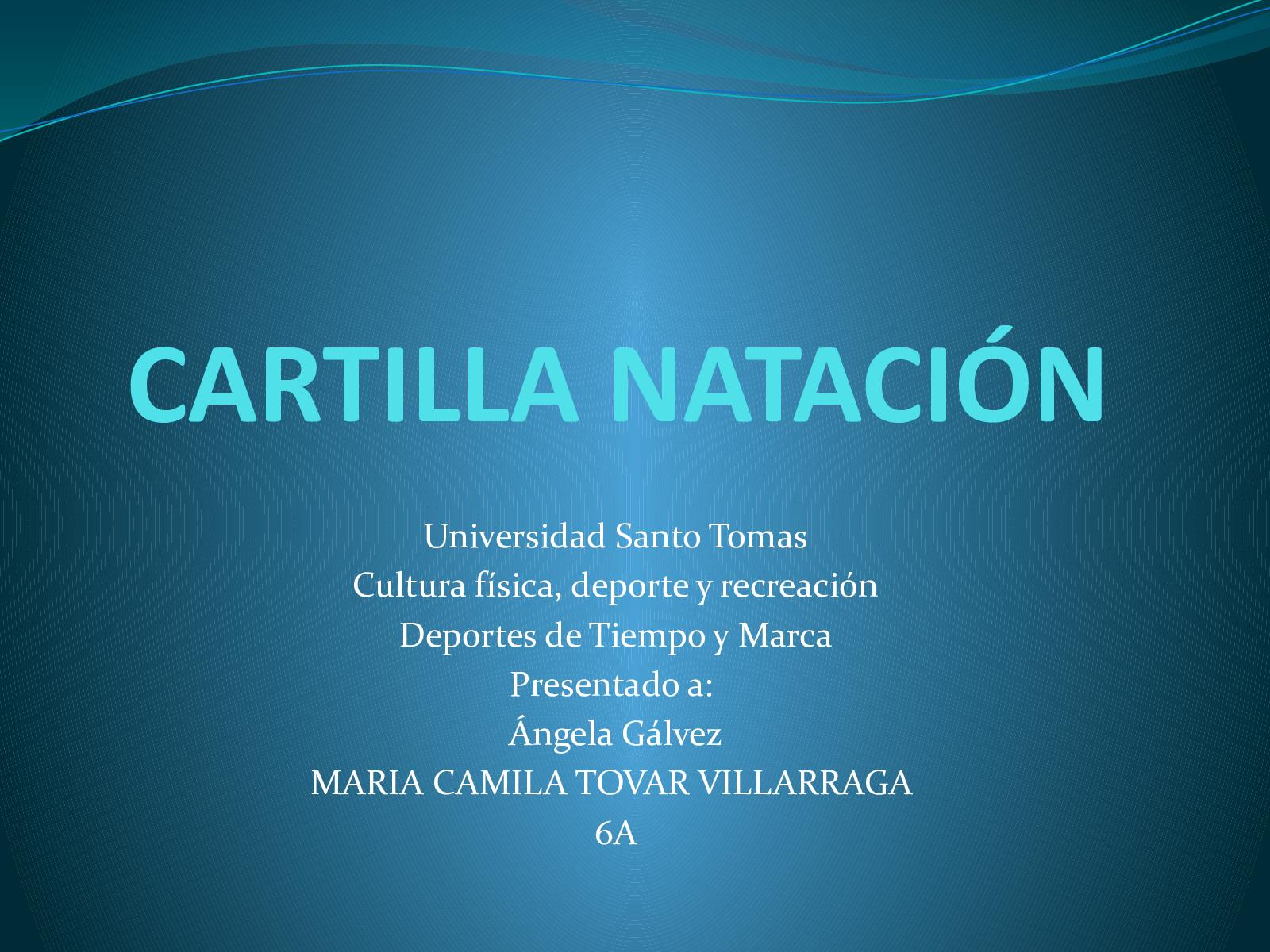 Cartilla Natación Camila