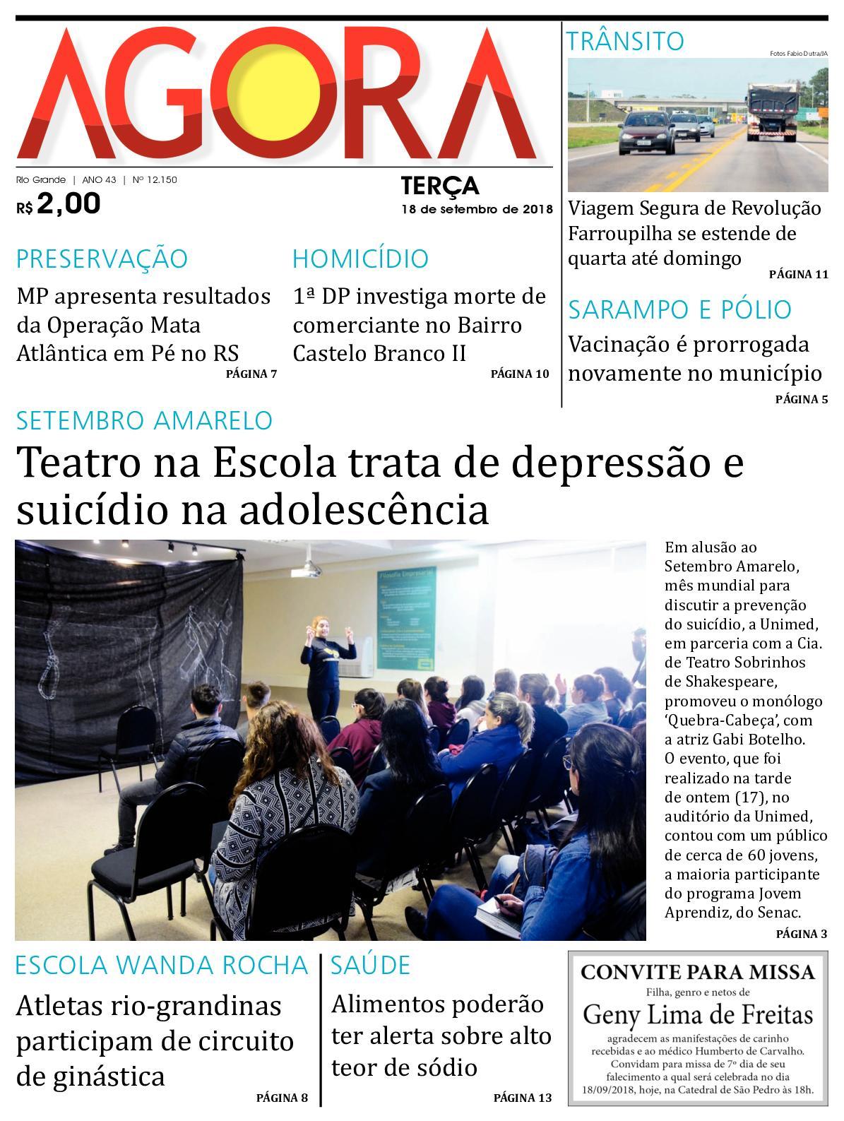14fda59ea Calaméo - Jornal Agora - Edição 12150 - 18 de Setembro de 2018