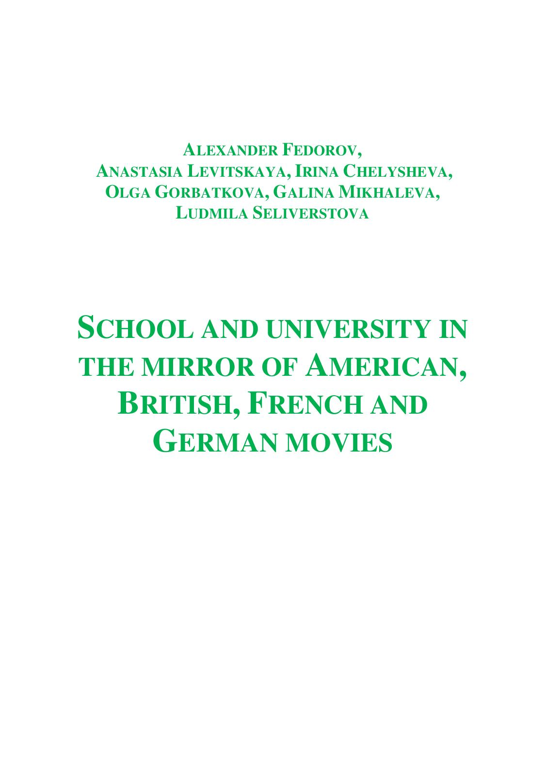 Calaméo School And University In The Mirror Of American